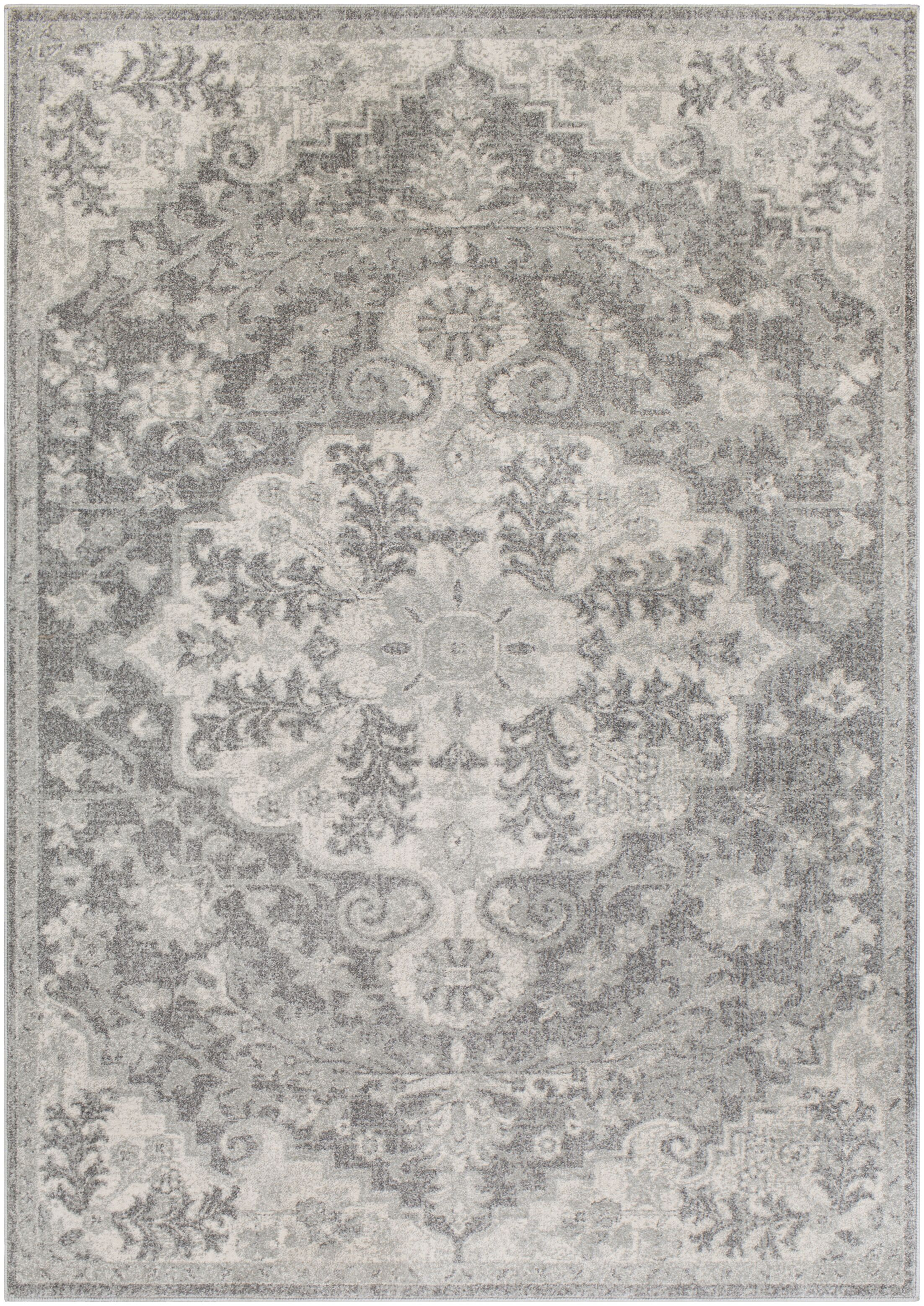 Hillsby Vintage Beige/Charcoal Area Rug Rug Size: Rectangle 3'11