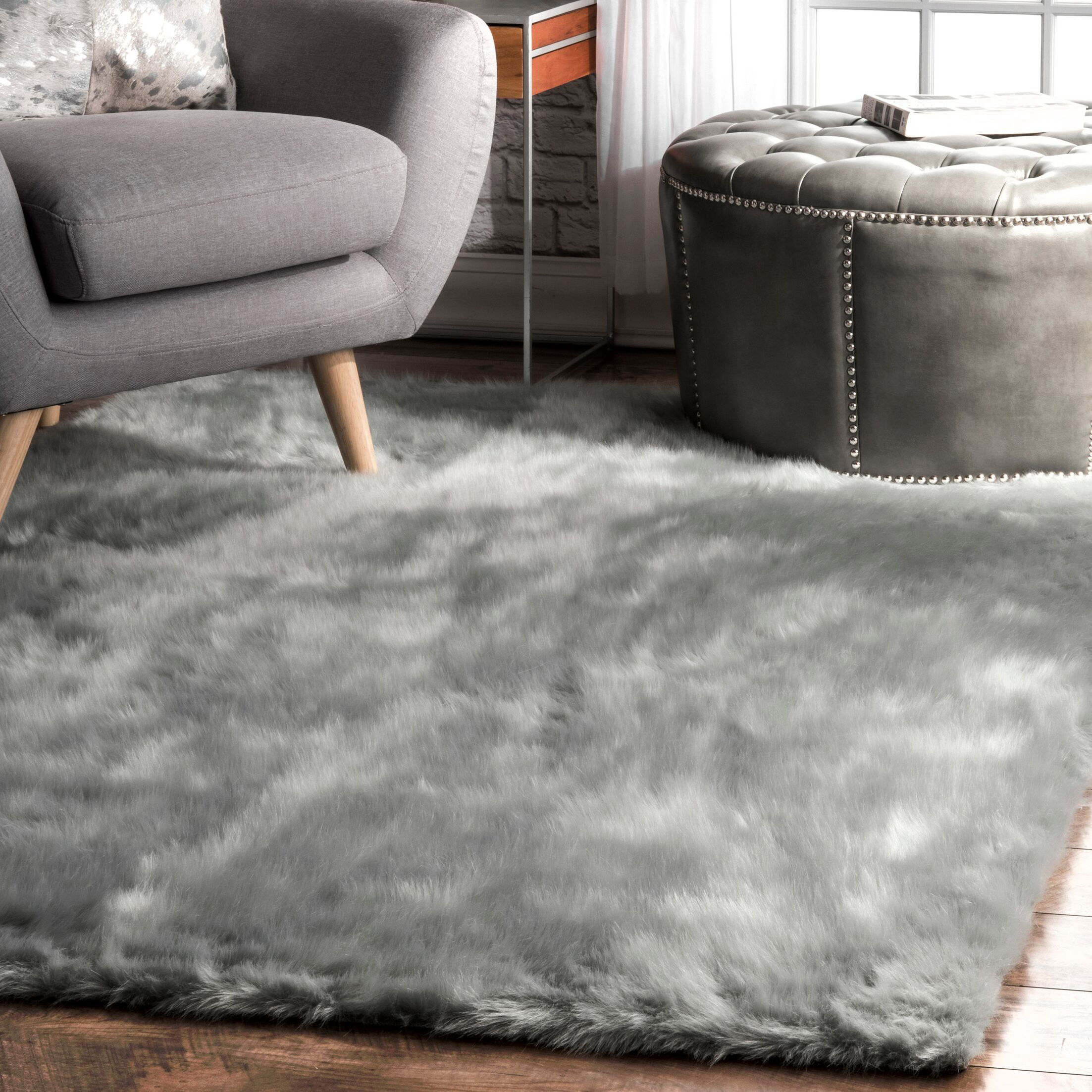 Empire Gray Area Rug Rug Size: Square 5'