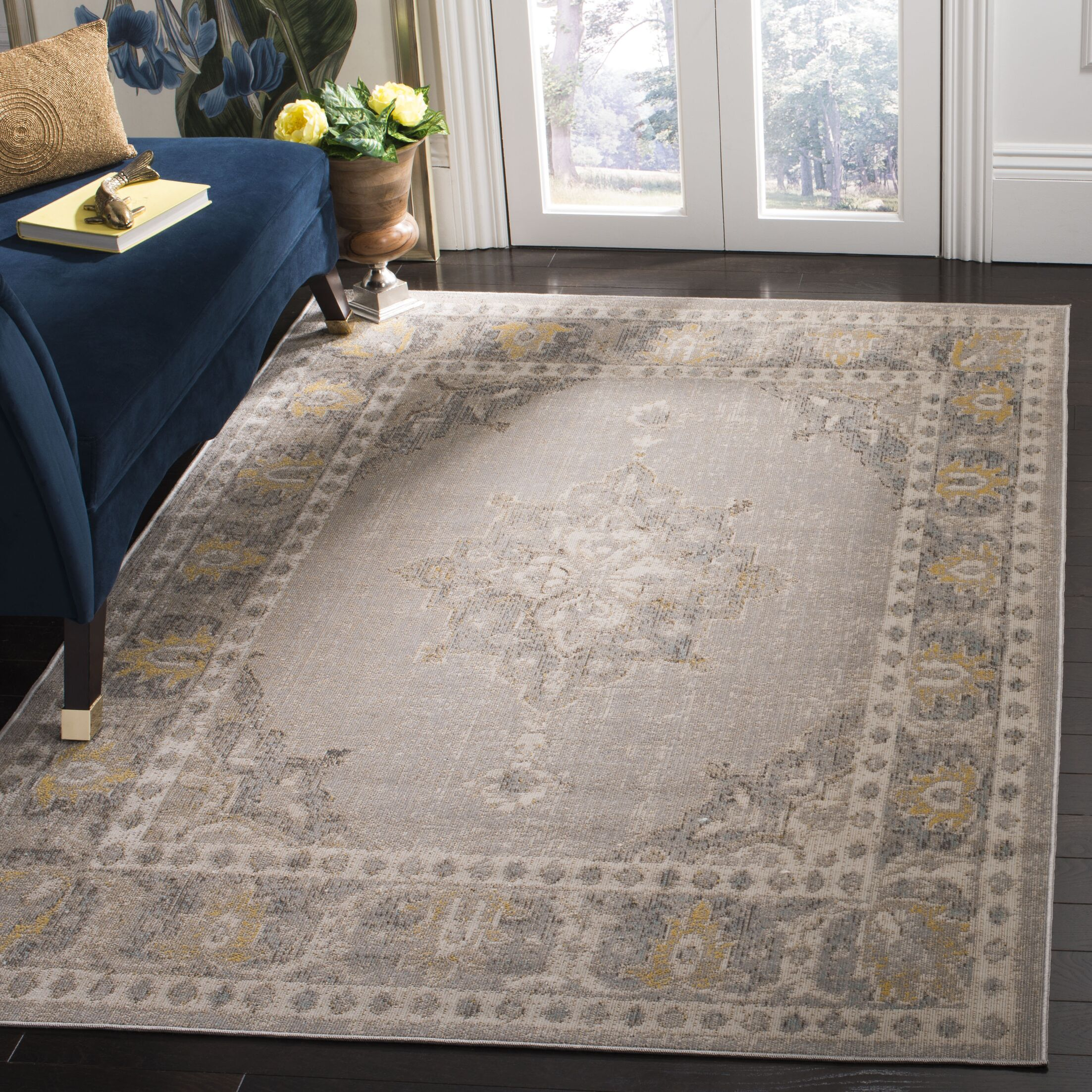 Griffeth Gray/Ivory Indoor/Outdoor Area Rug Rug Size: Rectangle 5'1