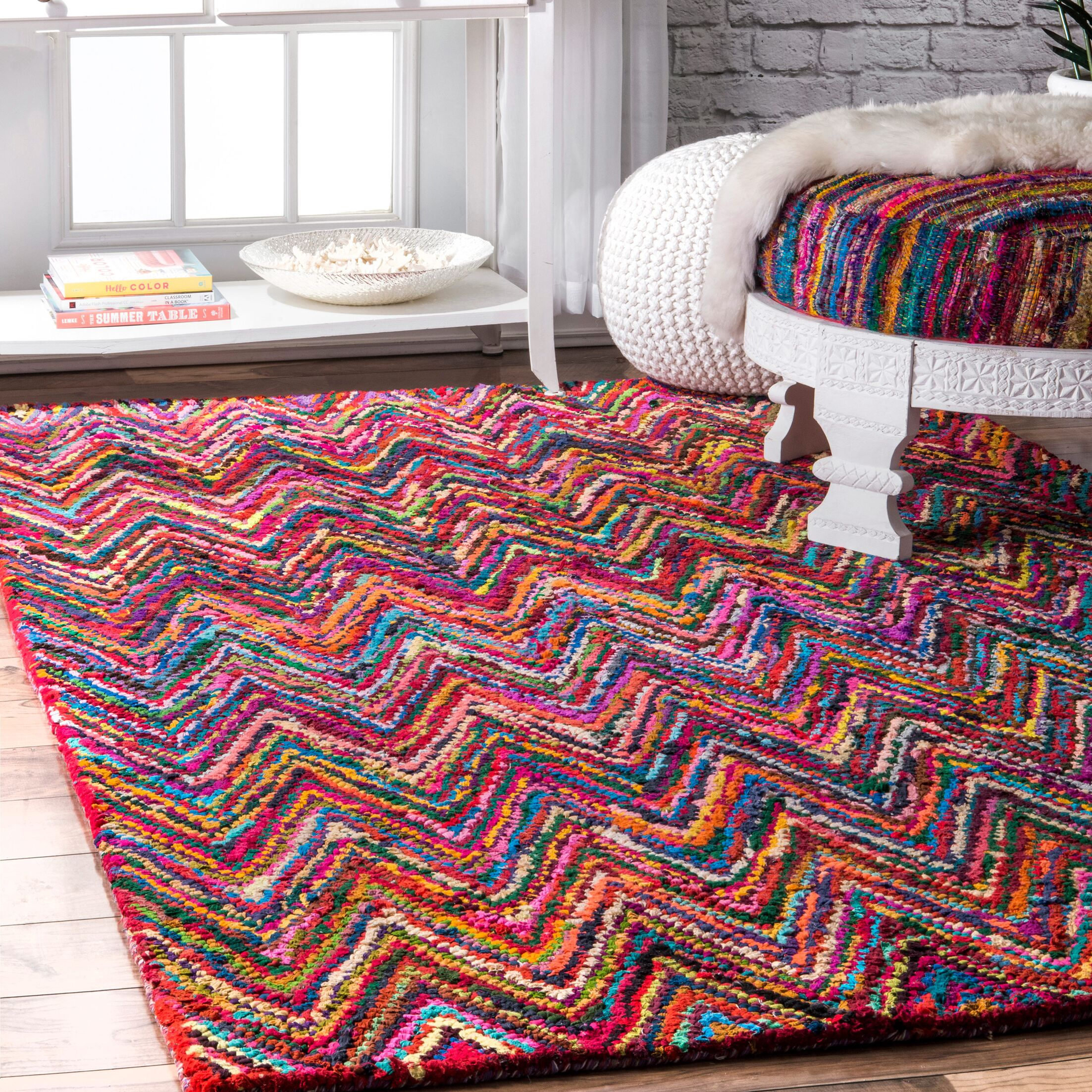 Genesee Hand-Braided Area Rug Rug Size: Rectangle 8'6