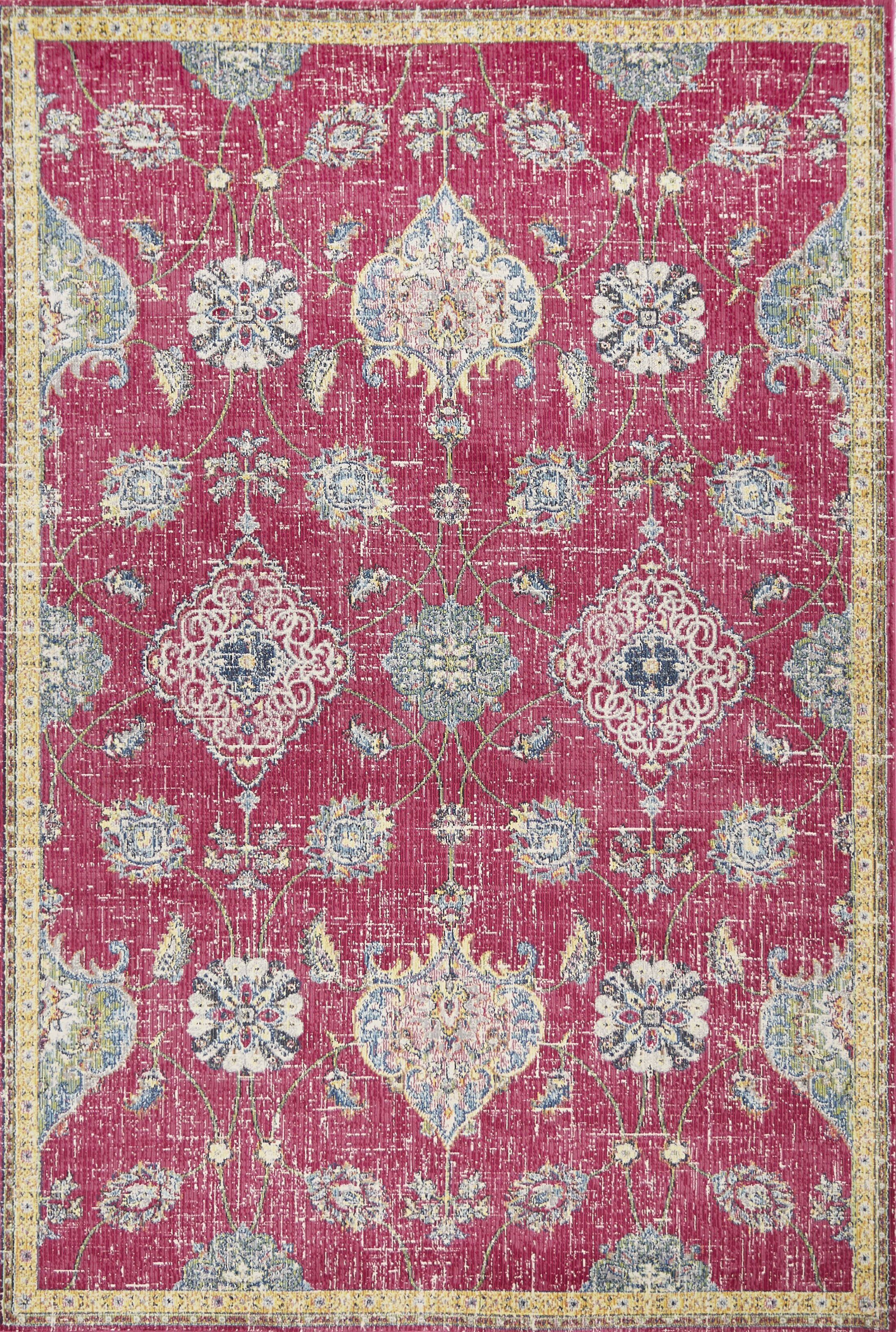 Cruise Pink Area Rug Rug Size: Rectangle 7'10
