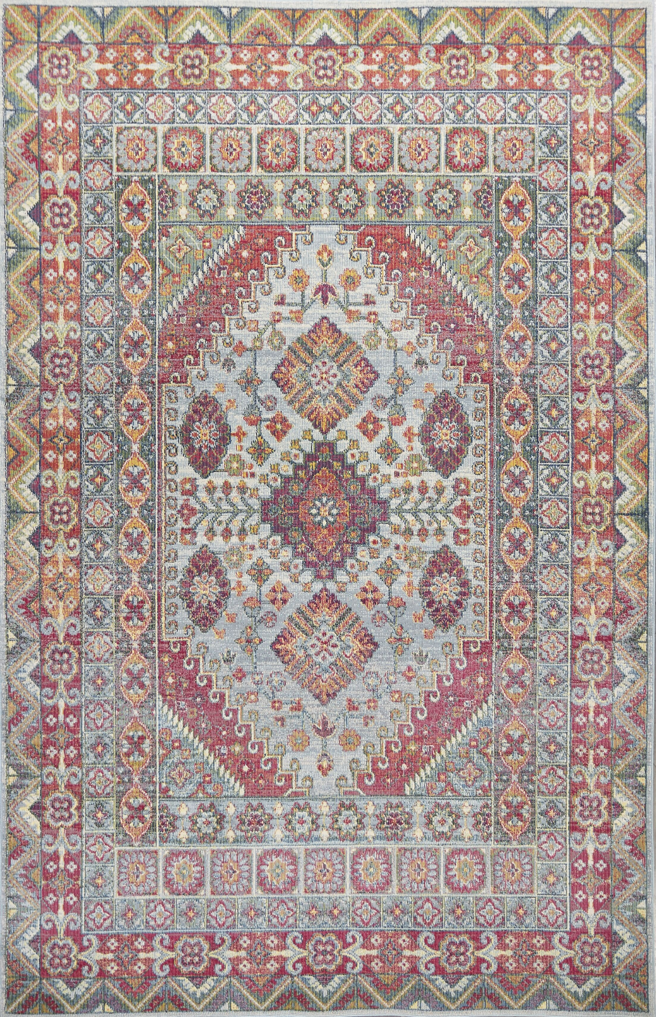 Cruise Red/Green Area Rug Rug Size: Rectangle 5'3