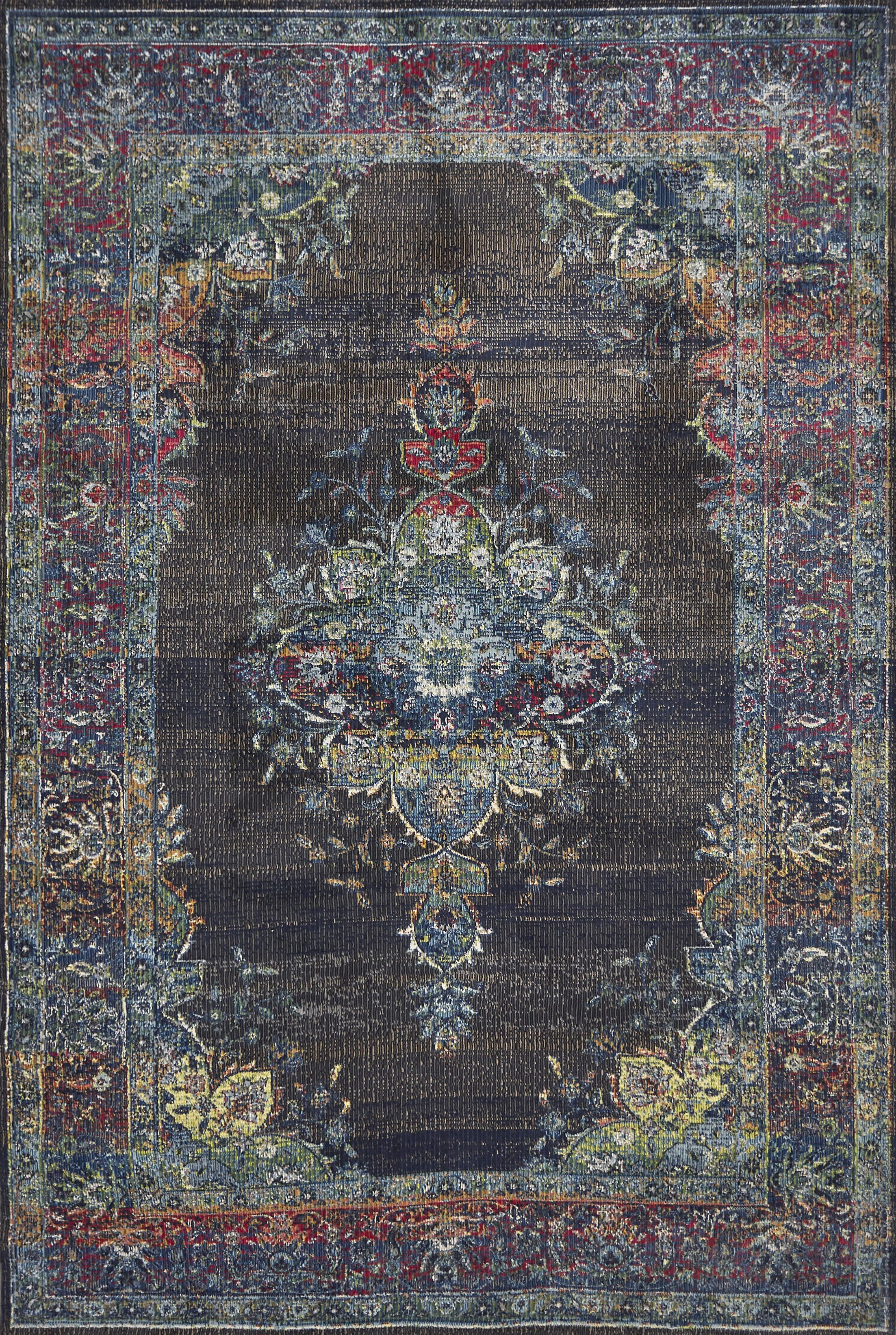 Cruise Charcoal Area Rug Rug Size: Rectangle 5'3
