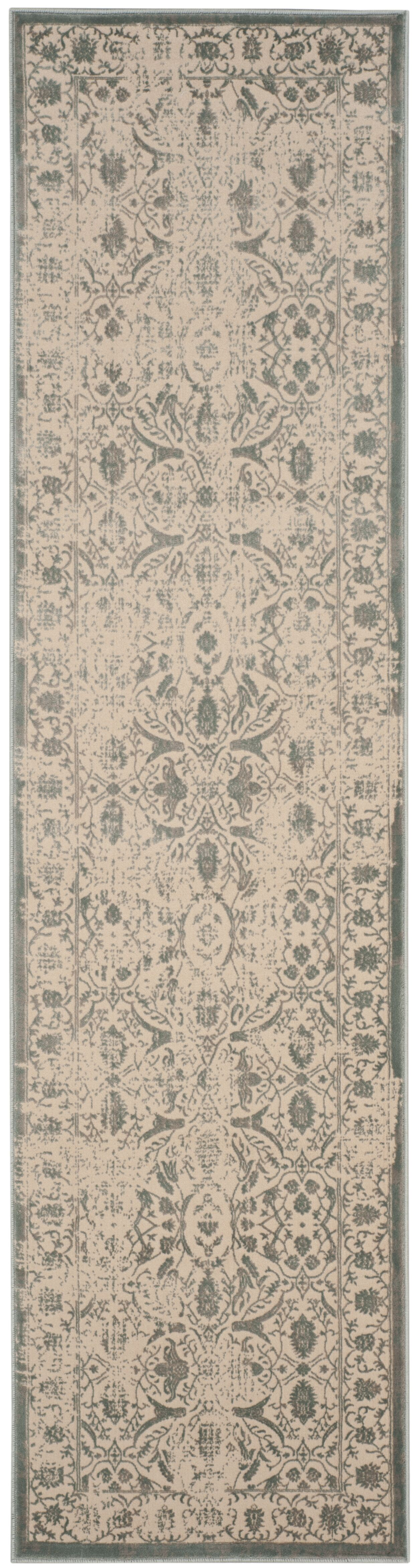 Cathy Cream/Sage Area Rug Rug Size: Runner 2'2