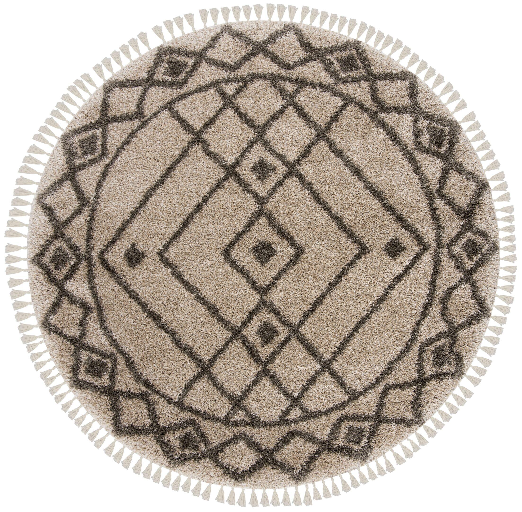 Ararat Mushroom/Gray Area Rug Rug Size: Round 6'7