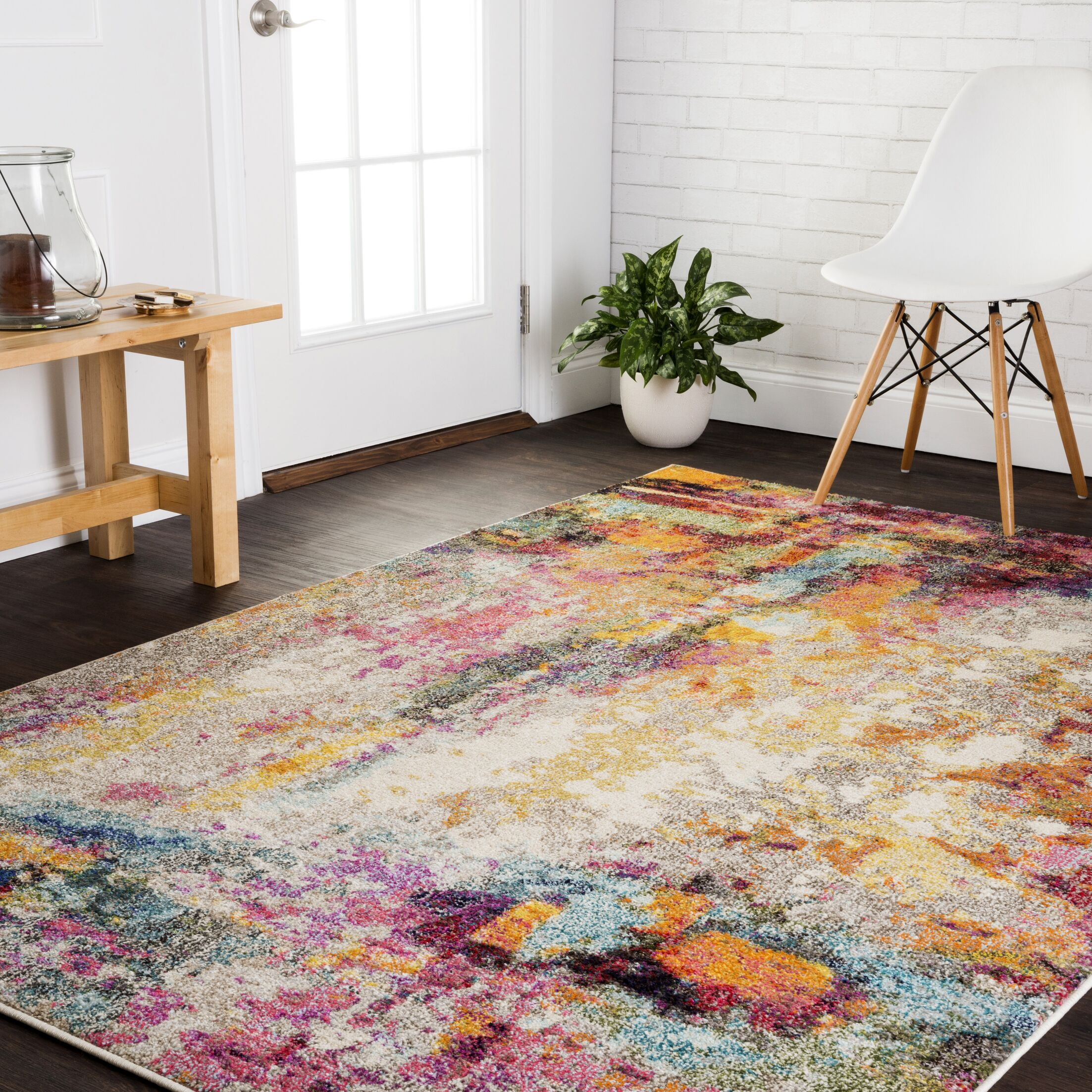 Lorenz Red/Brown Area Rug Rug Size: Rectangle 9' x 12'
