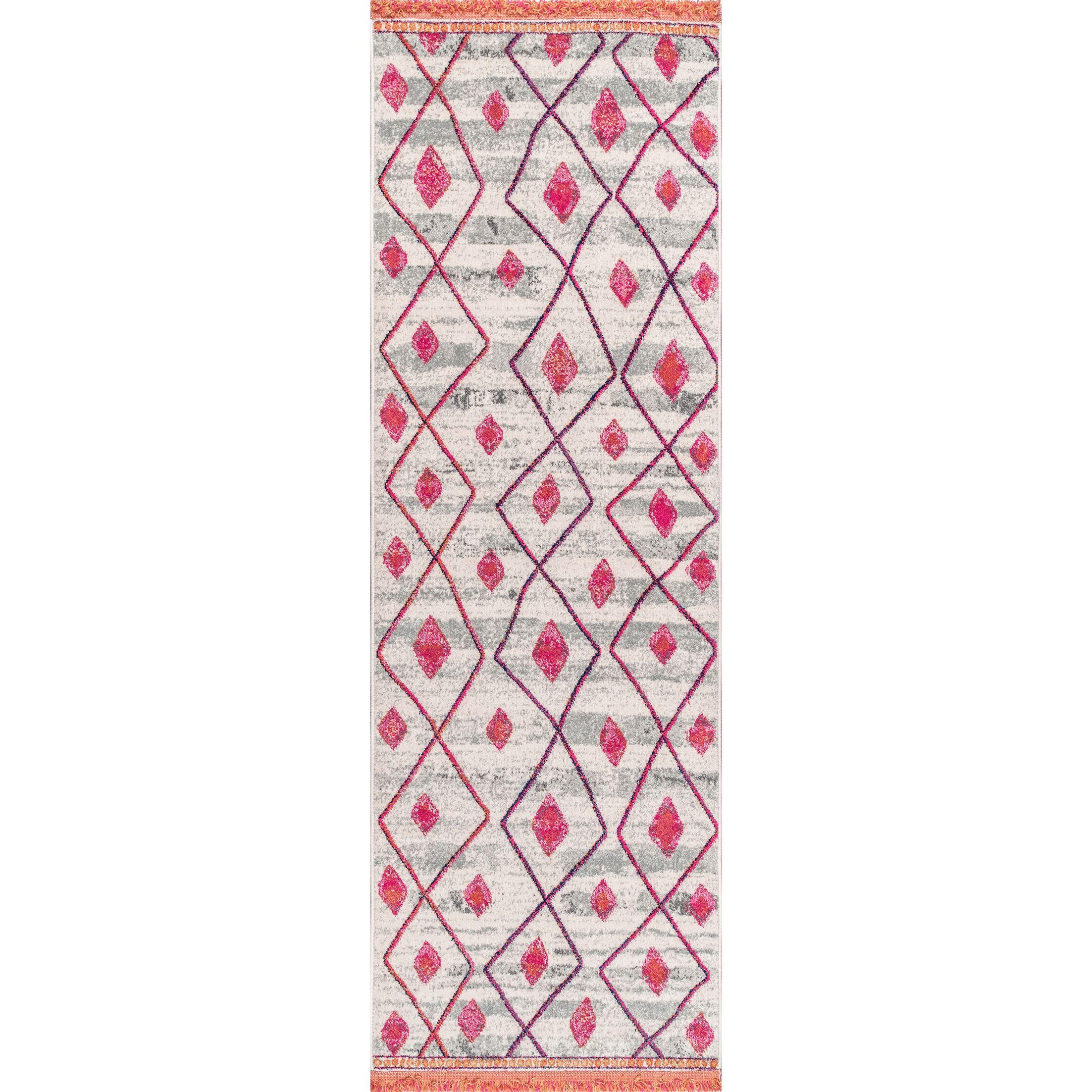 Newt Pink Area Rug Rug Size: Runner 2'8