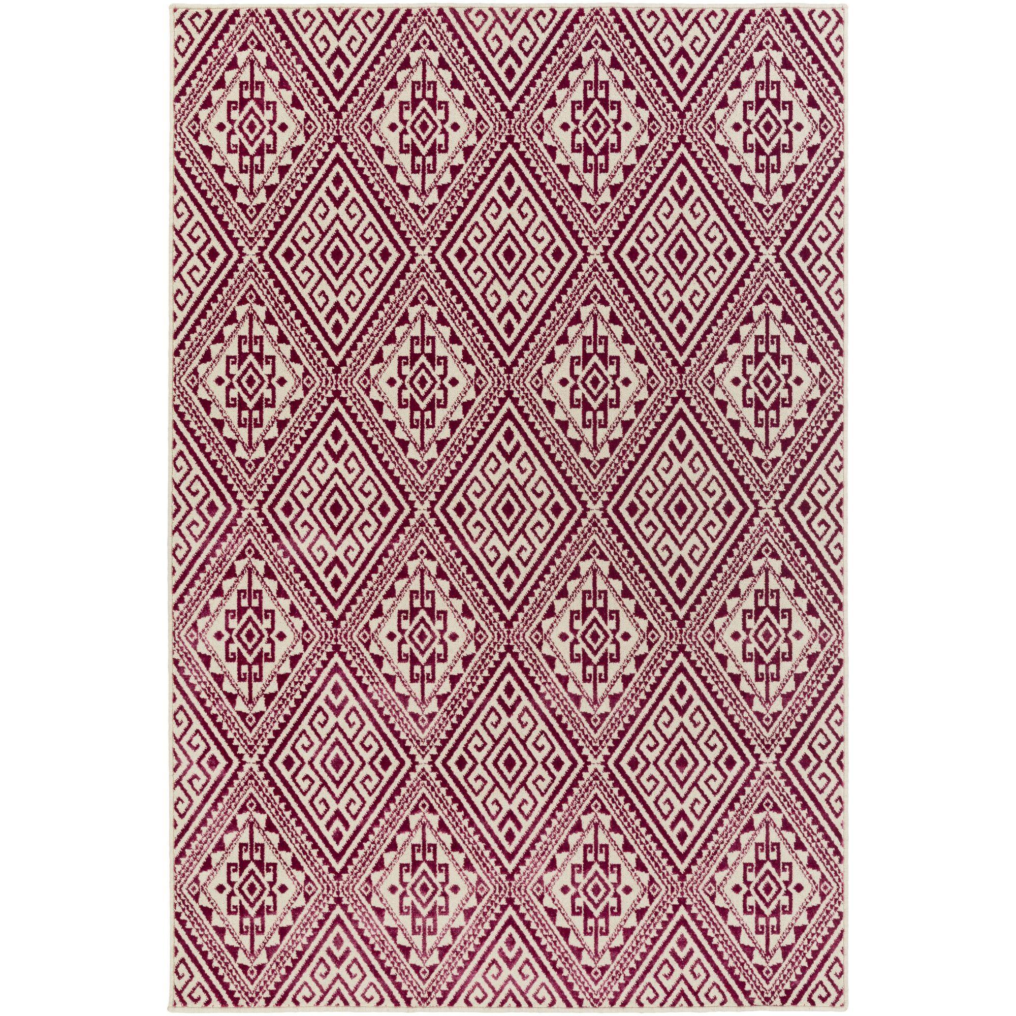 Zita Beige/Pink Area Rug Rug Size: Rectangle 5'3