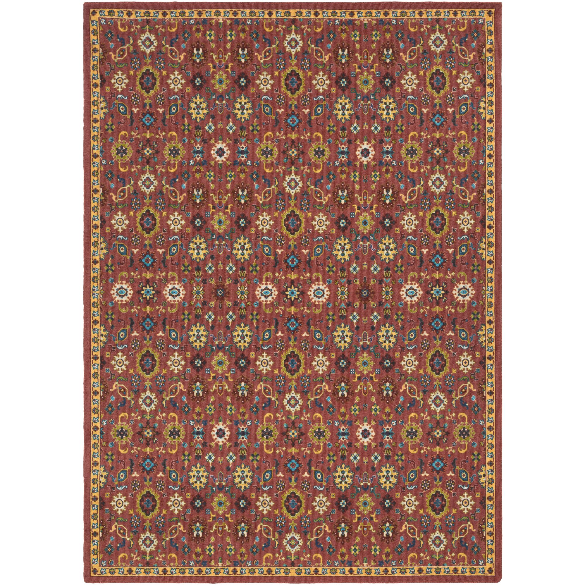 Emmie Red/Yellow Area Rug Rug Size: Rectangle 8' x 11'