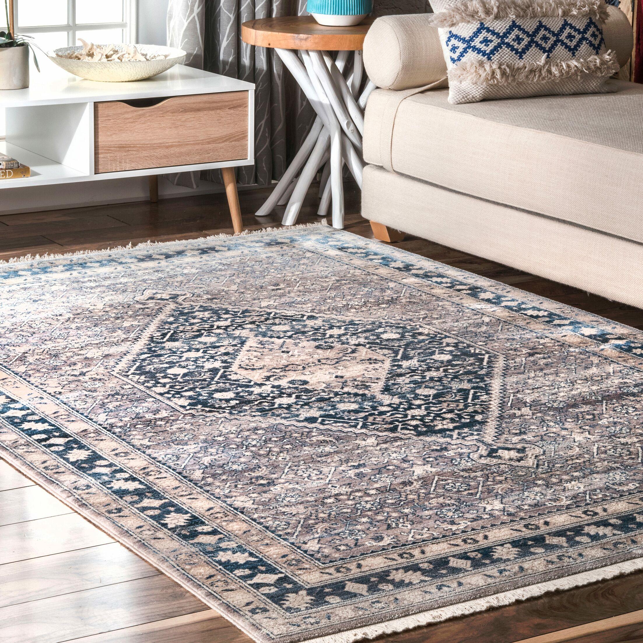 Georgetta Blue Area Rug Rug Size: Rectangle 8' x 10'