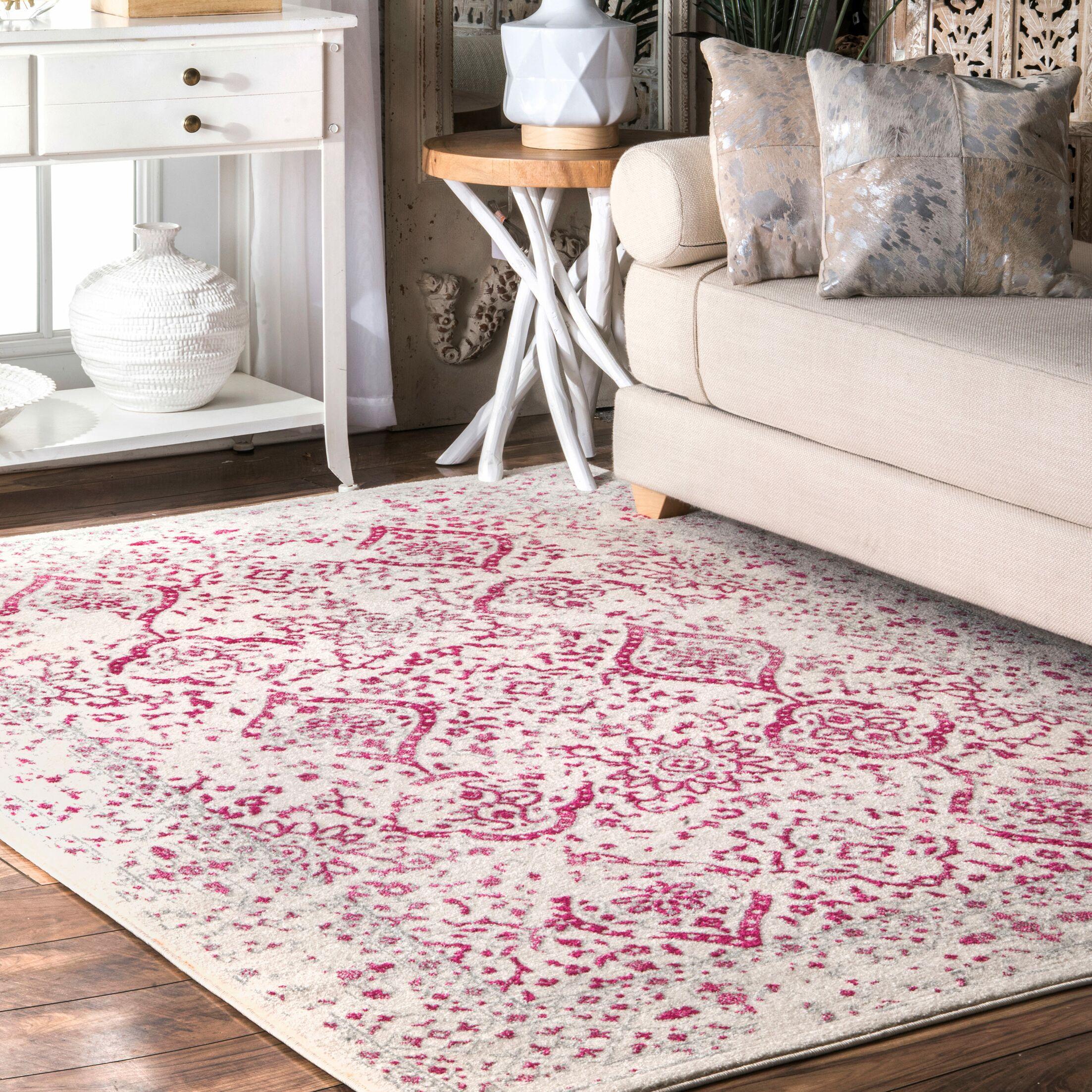 Jalissa Pink Area Rug Rug Size: Rectangle 8' x 10'