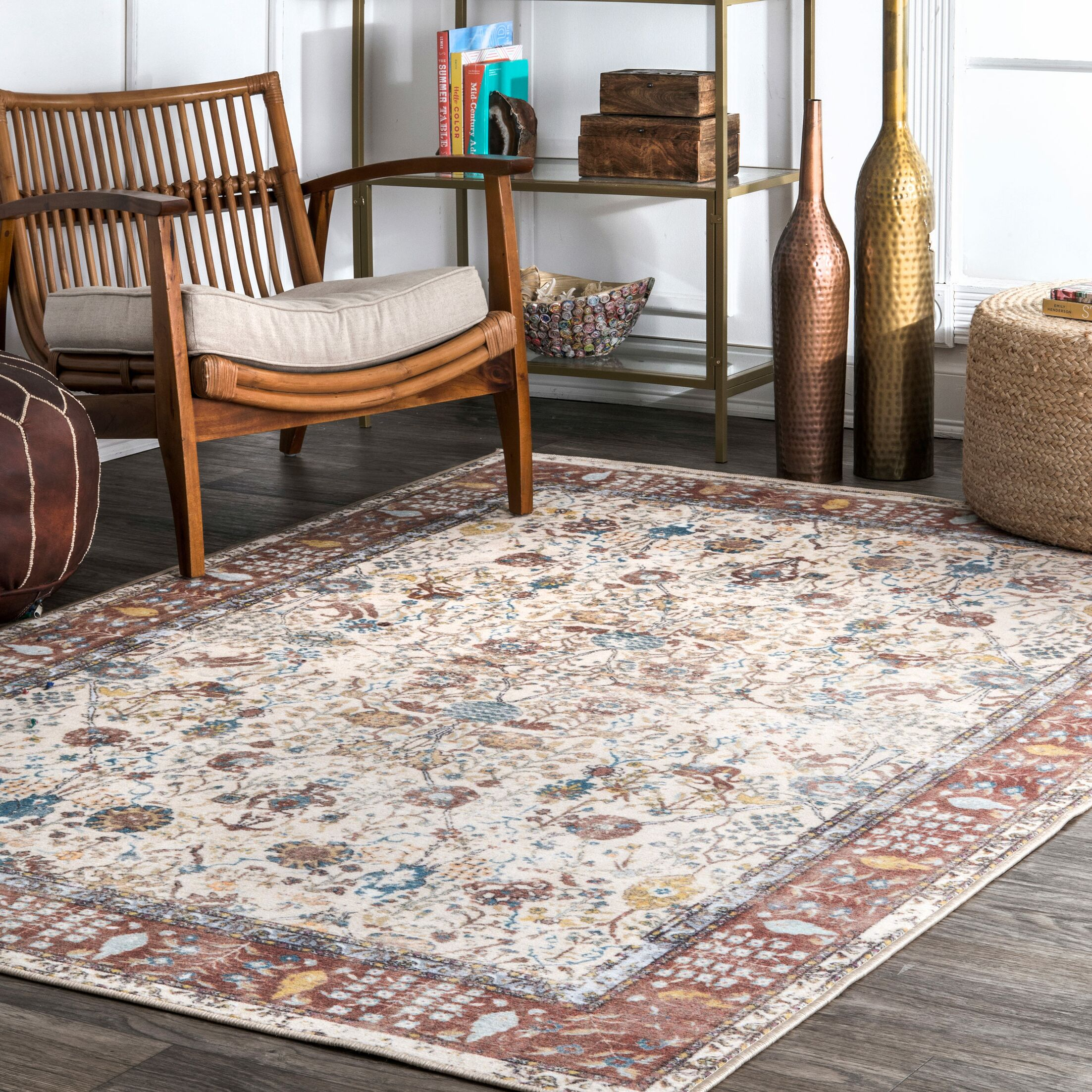 Emmer Ivory Area Rug Rug Size: Rectangle 9'10
