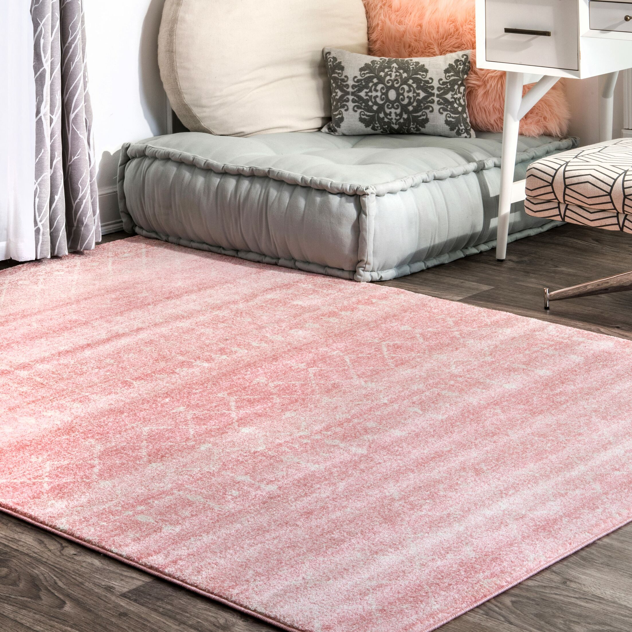 Isamar Pink Area Rug Rug Size: Rectangle 8' x 10'
