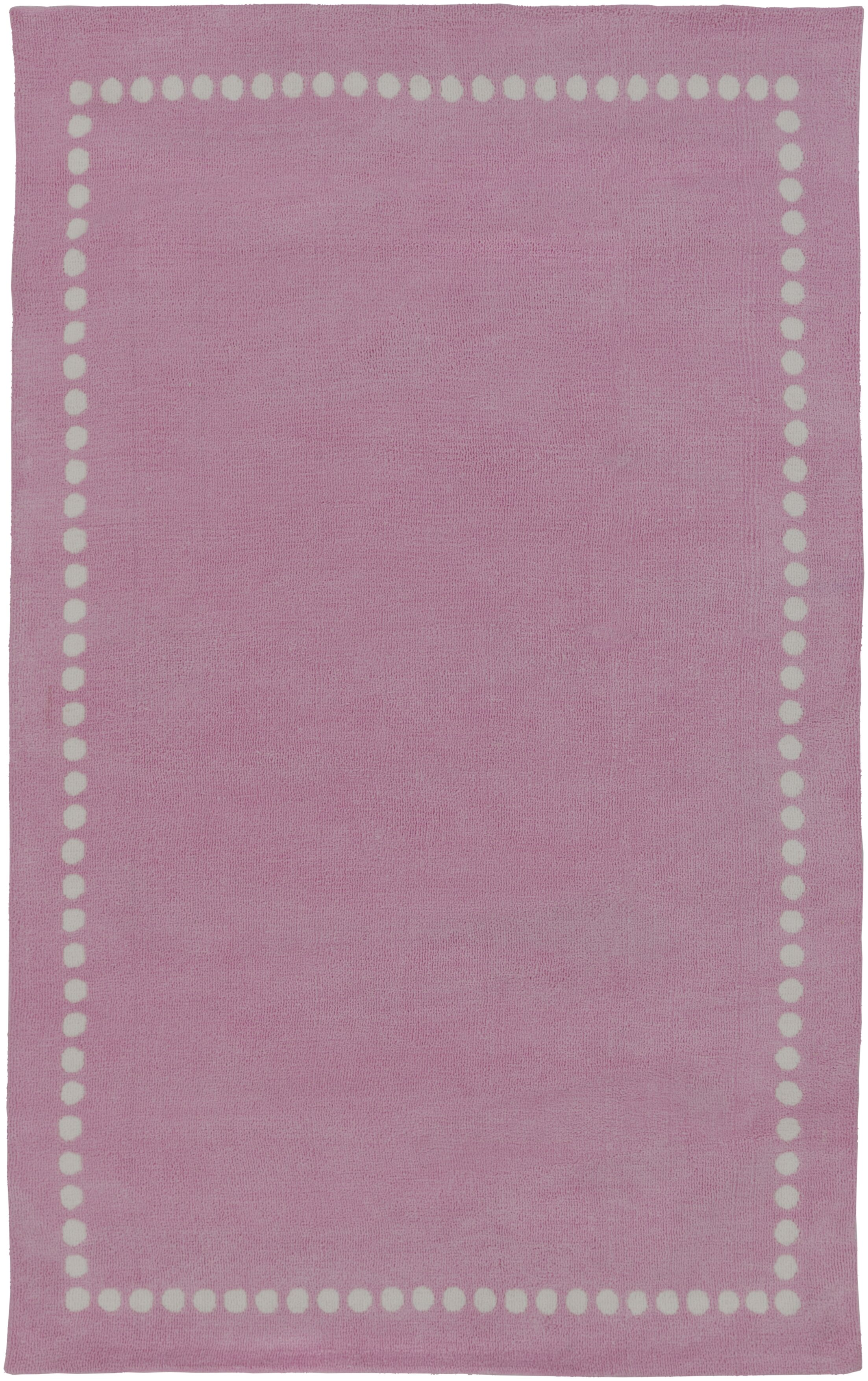 Dotted Line Pink Area Rug Rug Size: Rectangle 8' x 11'