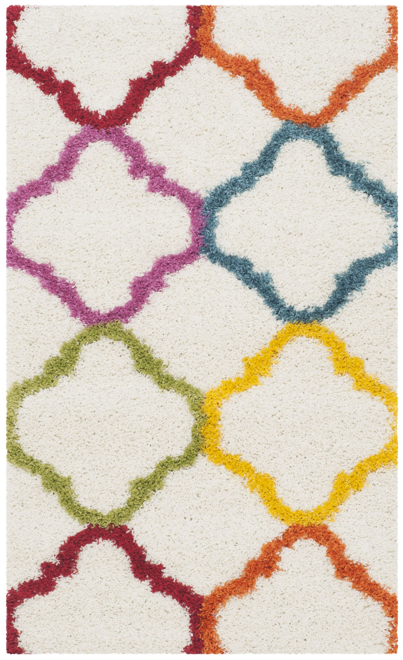 Gish Kids Ivory/Yellow Area Rug Rug Size: Rectangle 4' x 6'