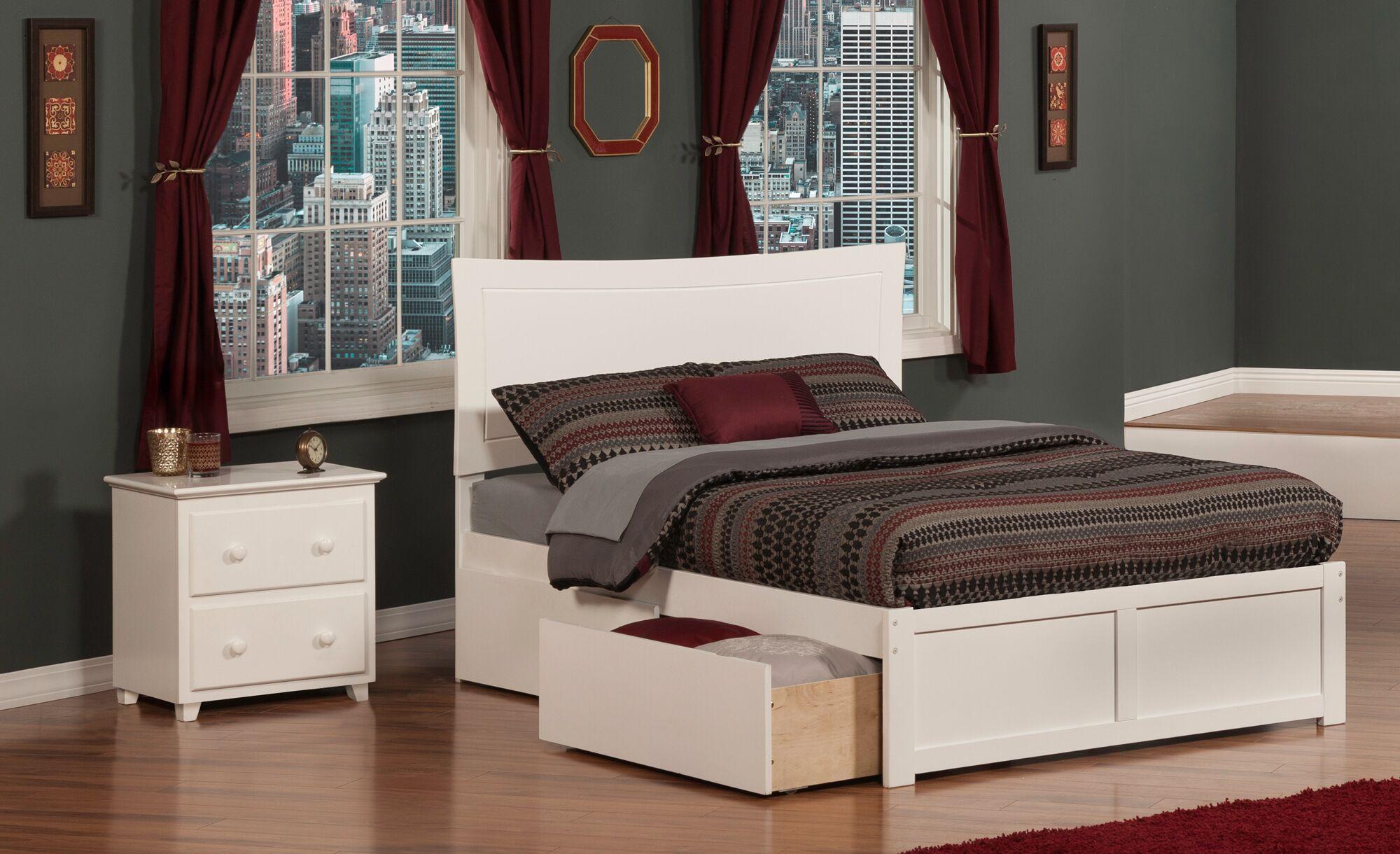Egon Panel 2 Piece Bedroom Set Finish: White, Size: Full