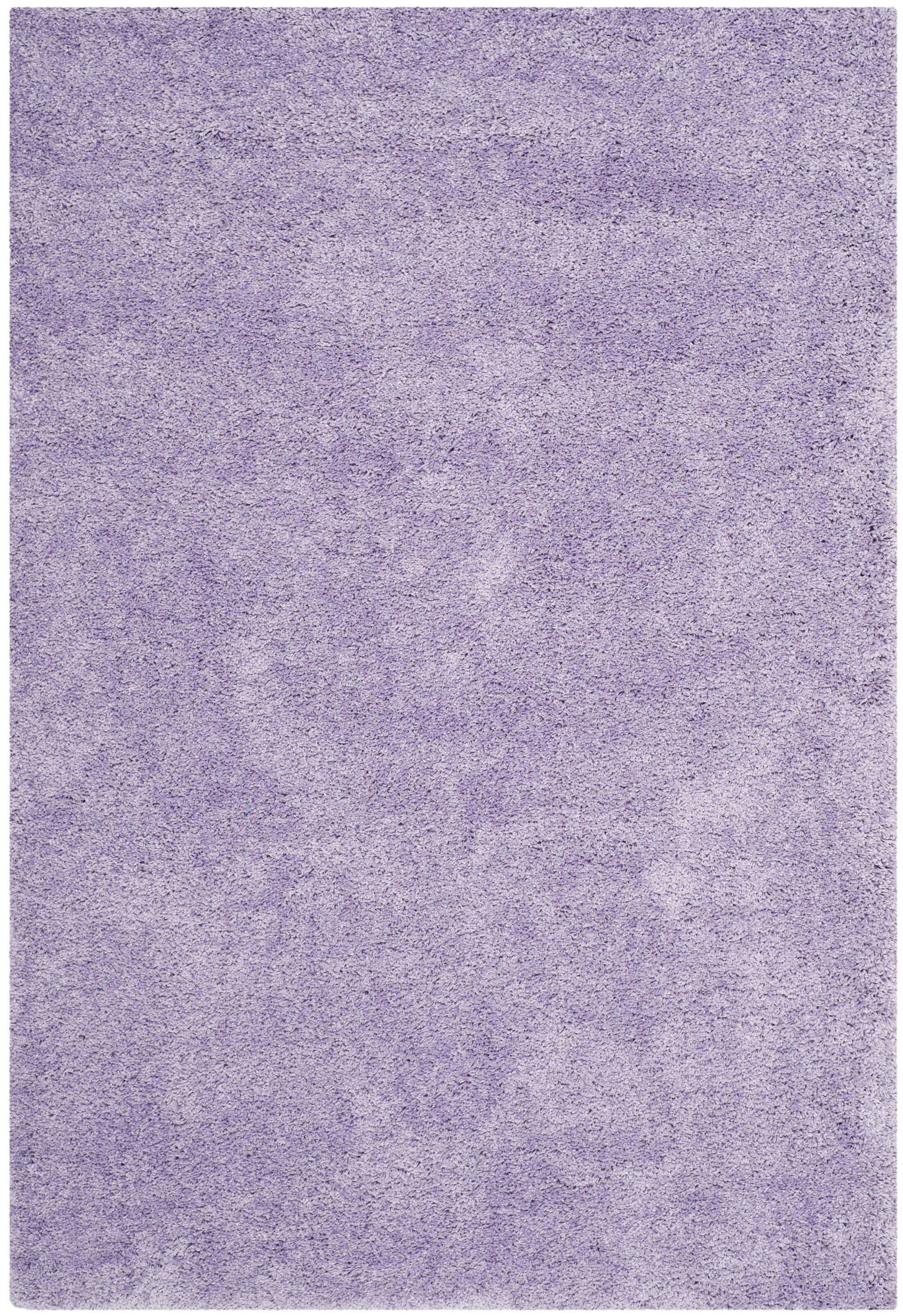 Ariel Lilac Shag Area Rug Rug Size: Rectangle 4' x 6'