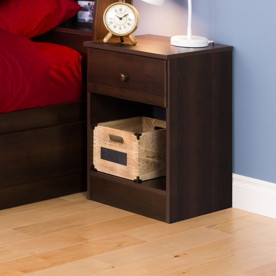Bailey 1 Drawer Nightstand Color: Espresso