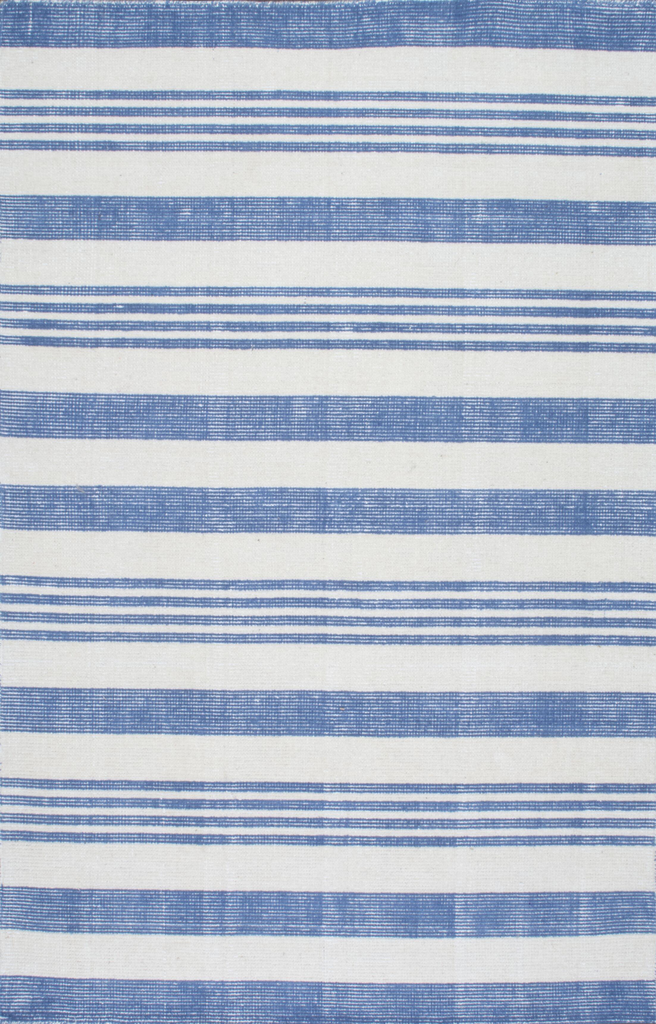 Serina Loomed Blue/Cream Area Rug Rug Size: Rectangle 7'6