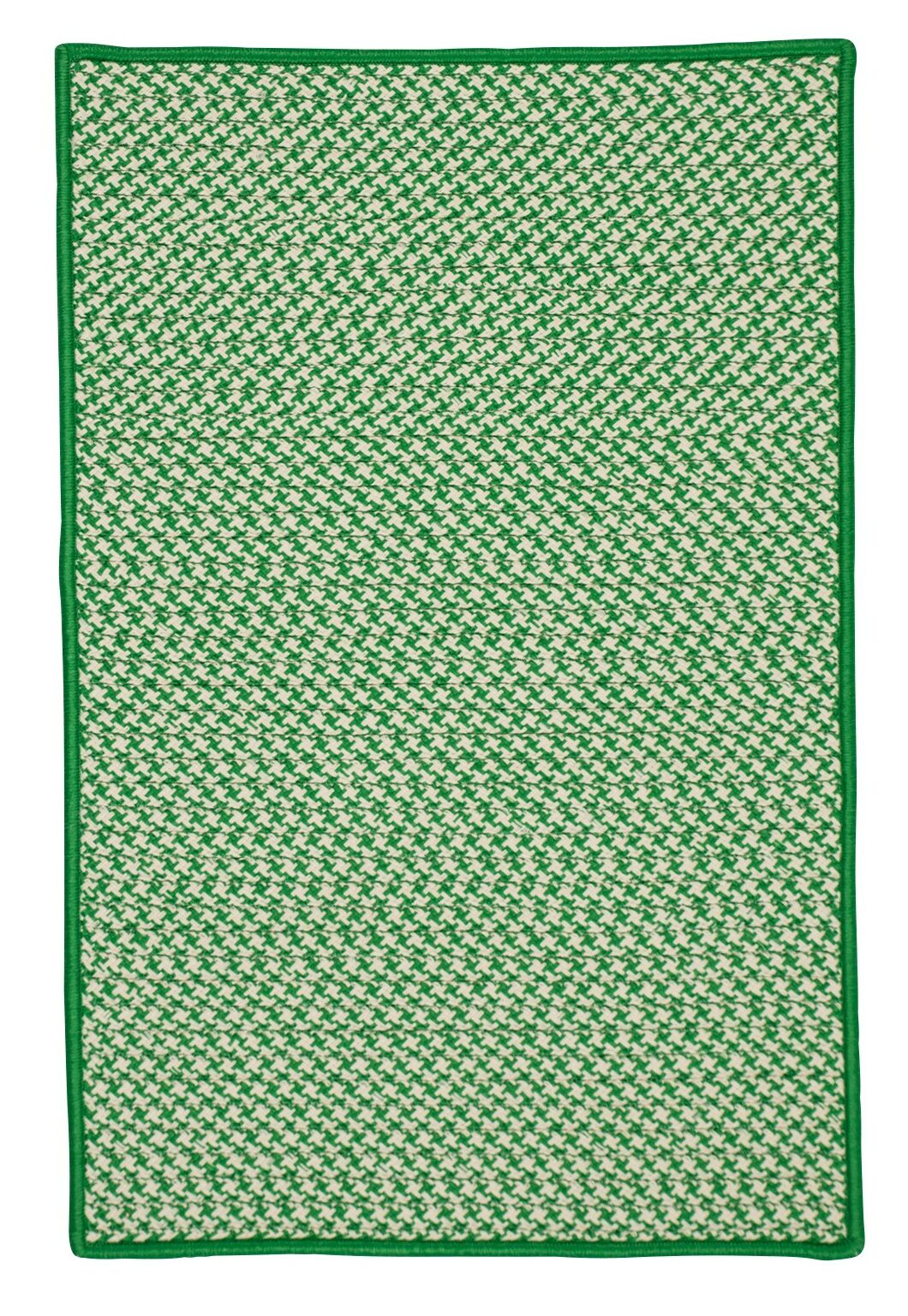 Surrency Houndstooth Tweed Hand-Woven Green Indoor/Outdoor Area Rug Rug Size: Rectangle 7' x 9'