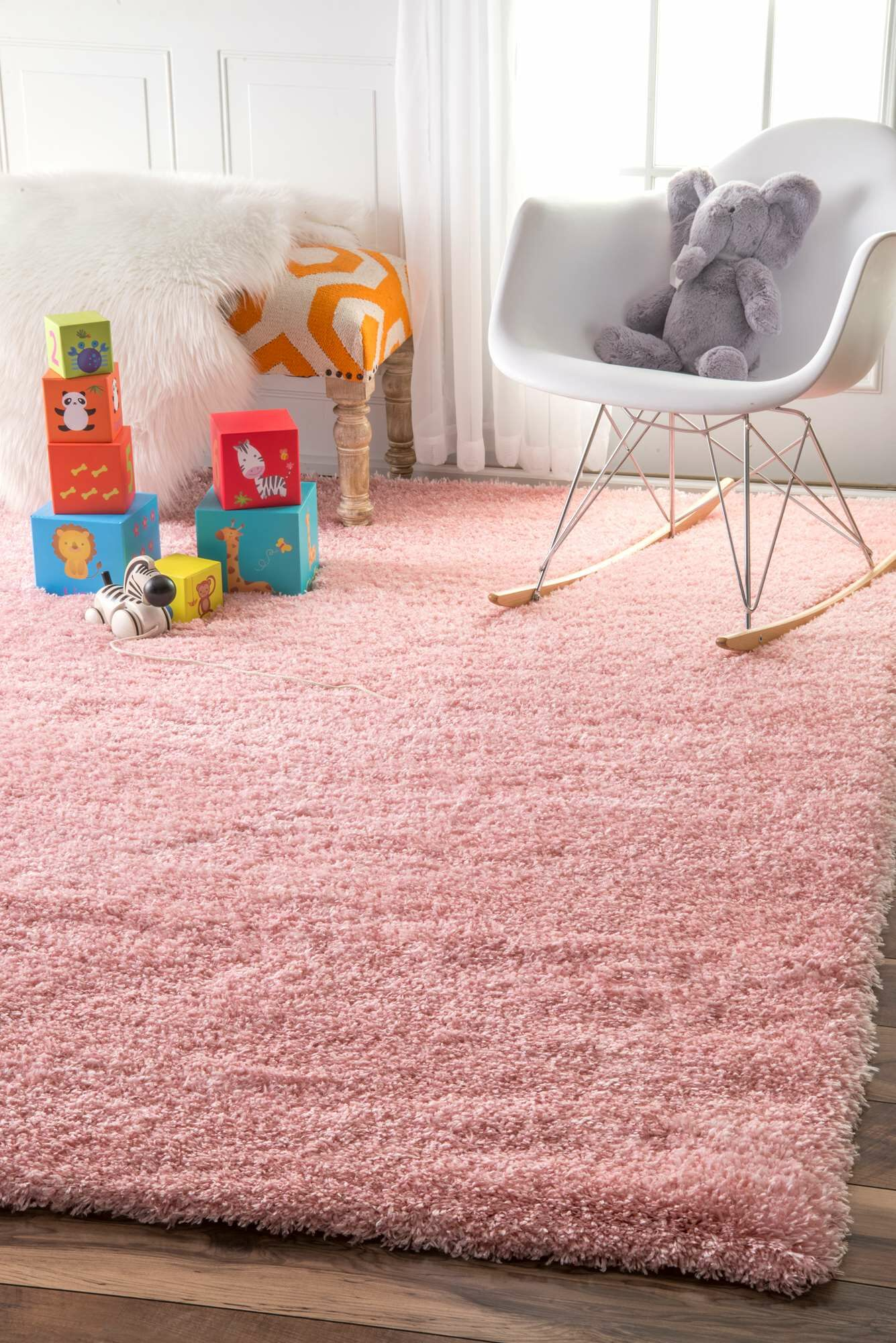 Julio Baby Pink Area Rug Rug Size: Rectangle 7'10