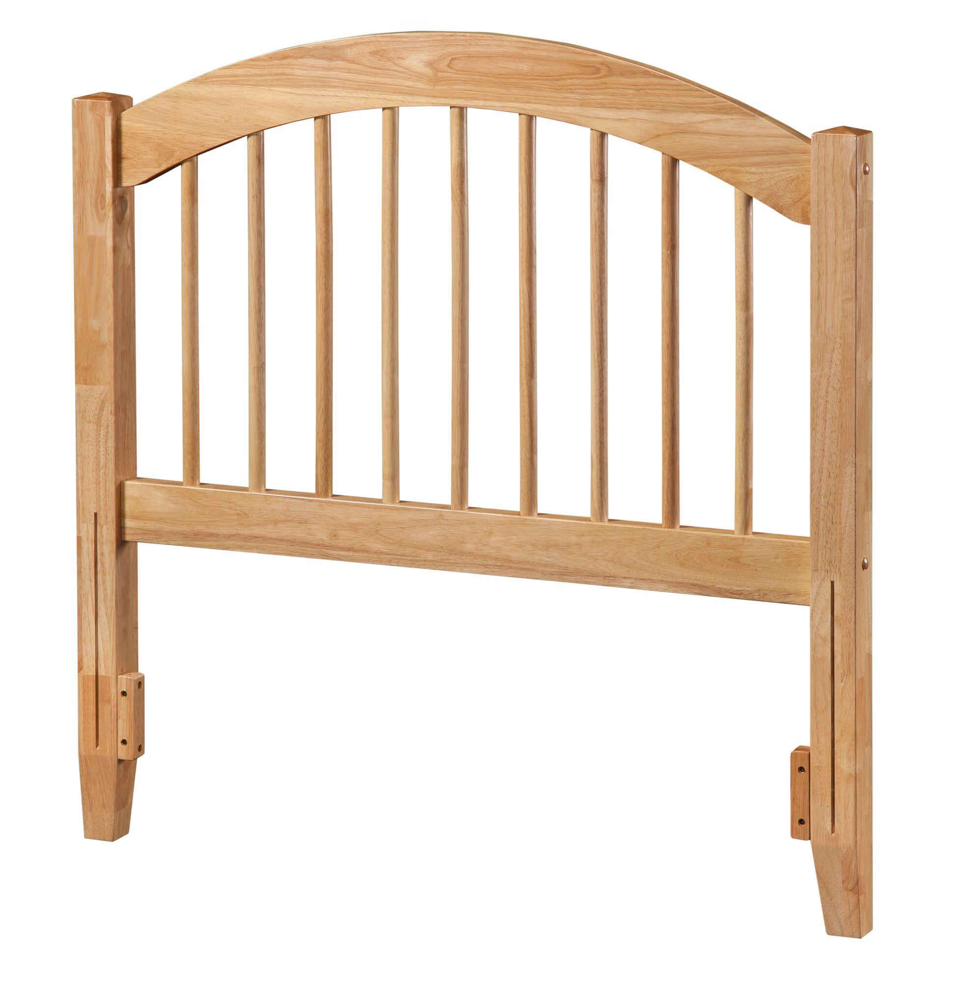 Maryanne Slat Headboard Upholstery: White, Size: Full