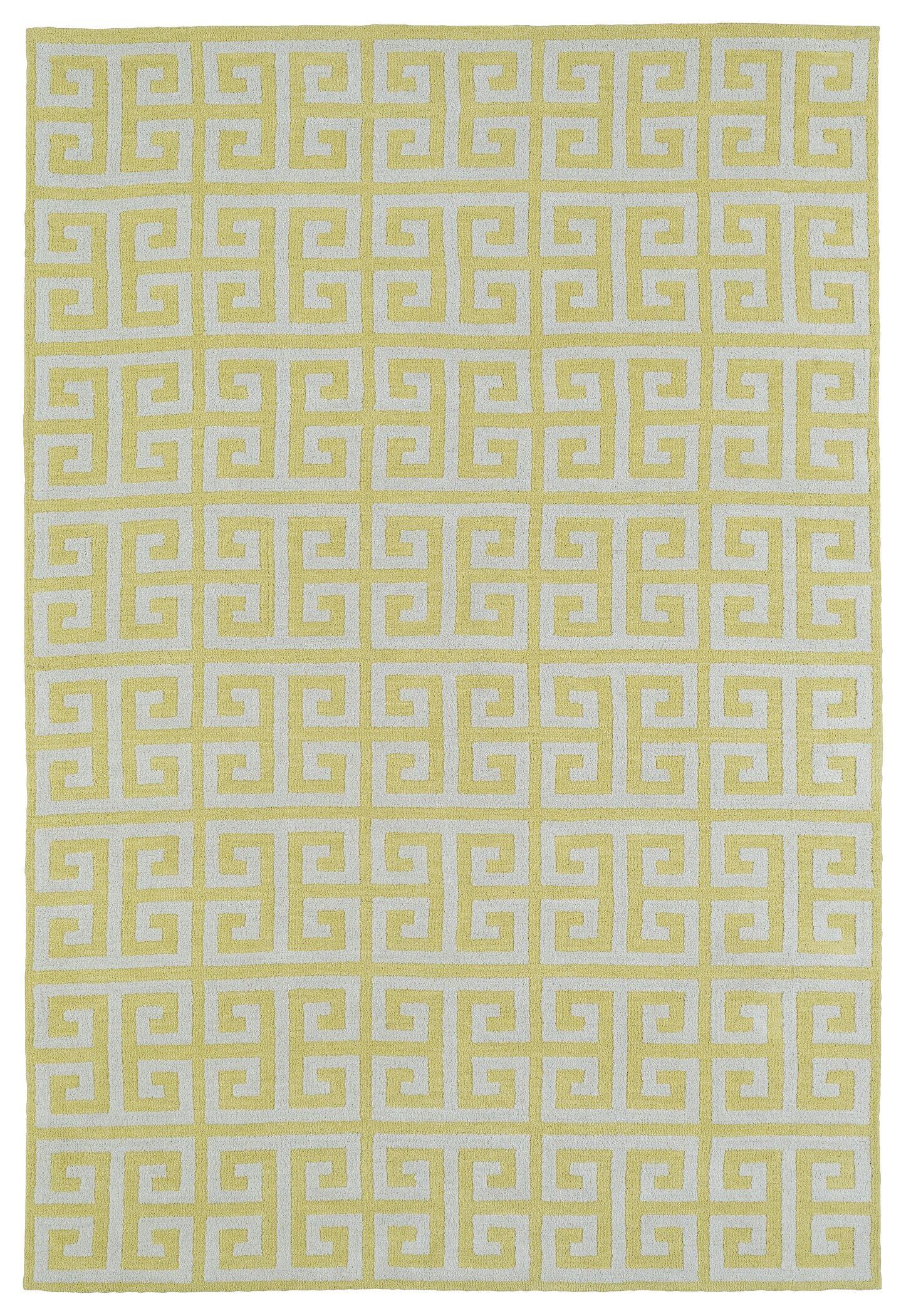 Aaron Yellow Area Rug Rug Size: Rectangle 5' x 7'