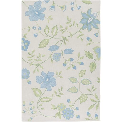 Aline Hand-Tufted Blue/Green Area Rug Rug Size: Rectangle 7'6