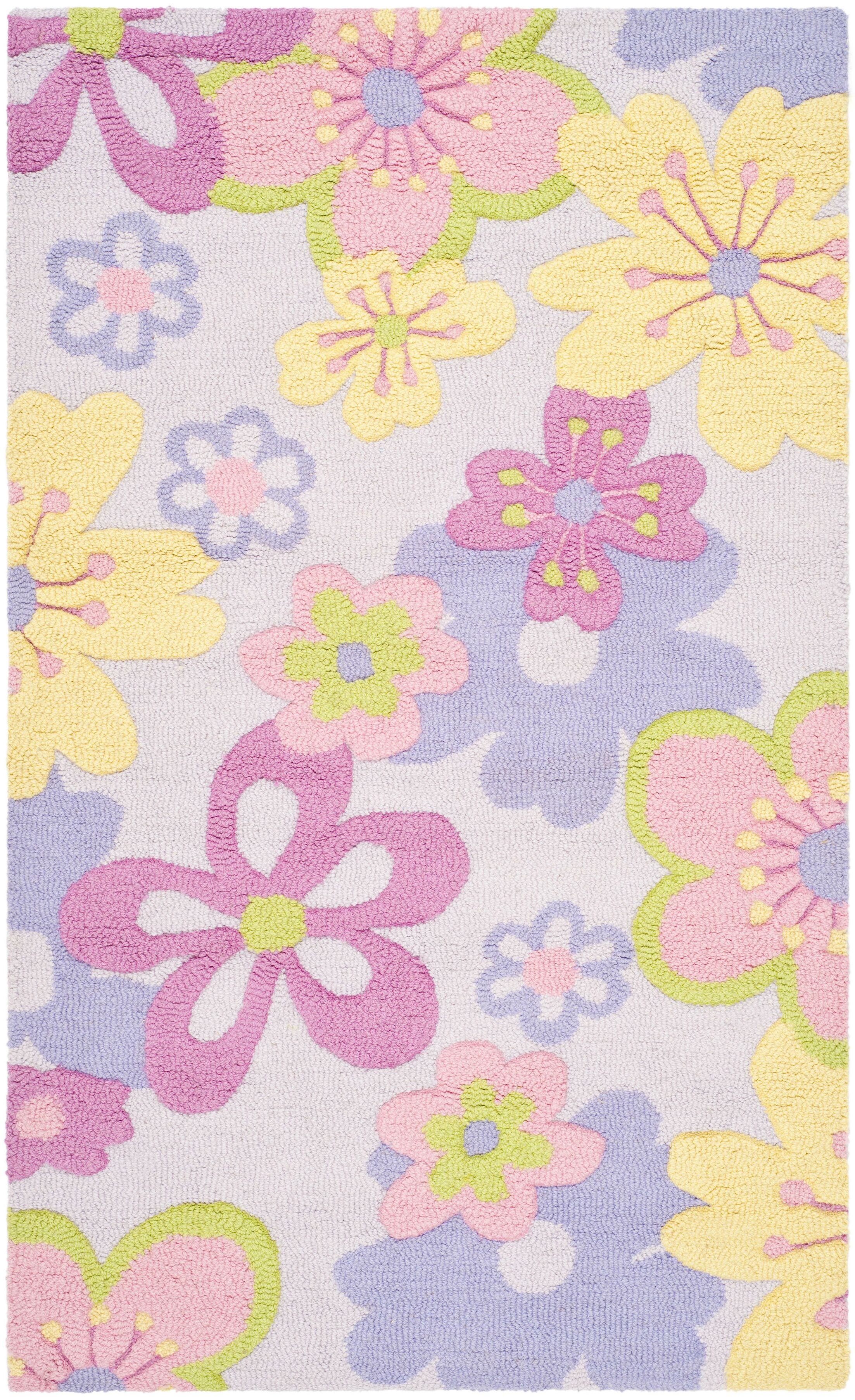 LeVar Hand-Tufted Pink/Purple Area Rug Rug Size: Rectangle 3' x 5'
