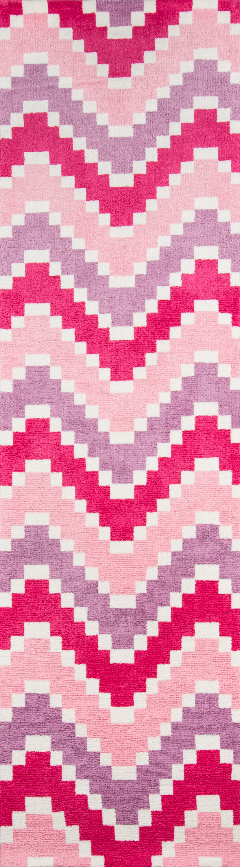 Anita Hand-Tufted Pink Area Rug Rug Size: Runner 2'3