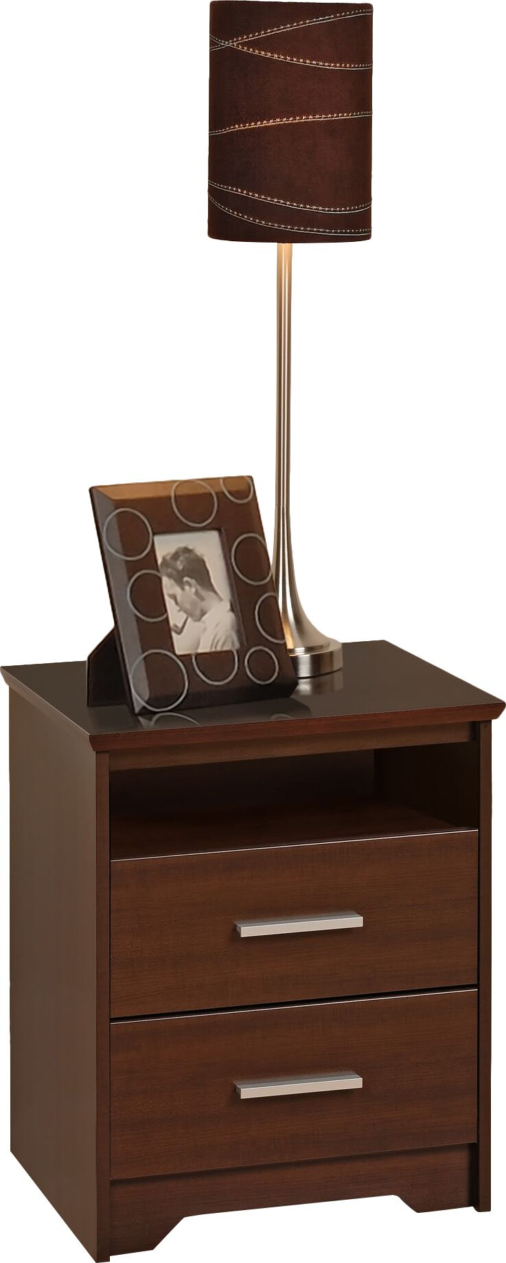 Oleanna Traditional 2 Drawer Nightstand Color: Espresso