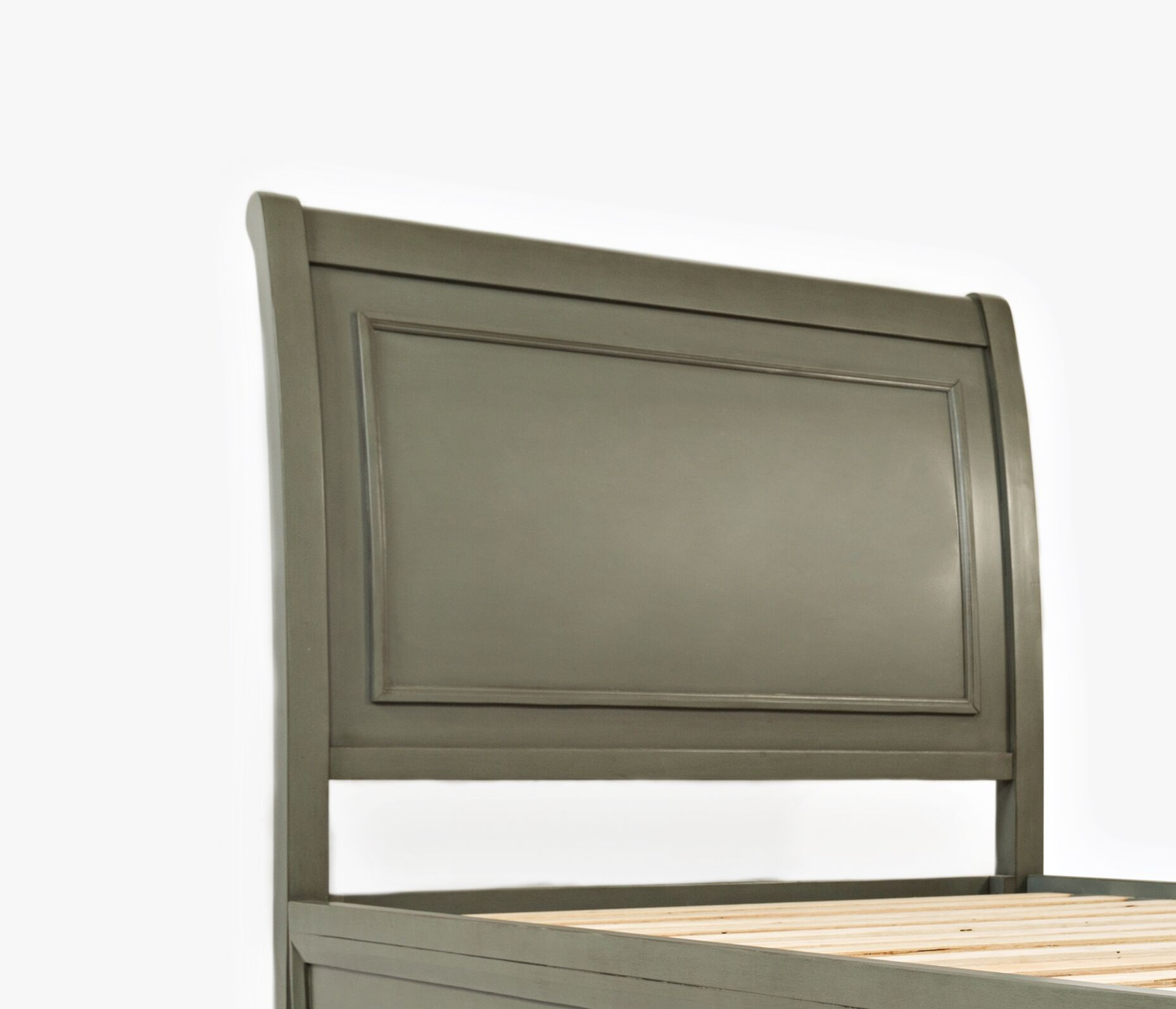 Glenburn Wood Panel Headboard Color: Grey, Size: Full