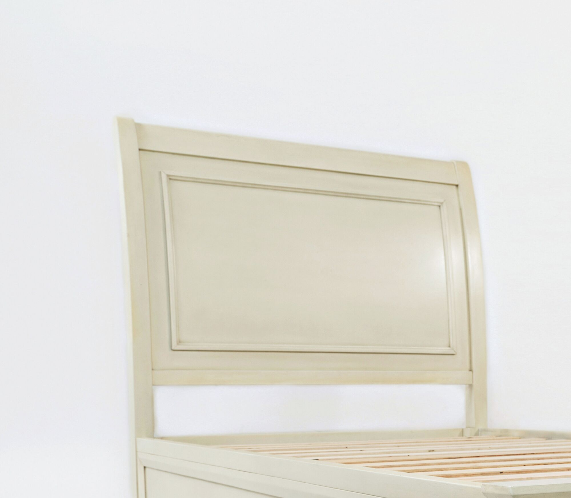 Glenburn Wood Panel Headboard Color: Ivory, Size: Twin