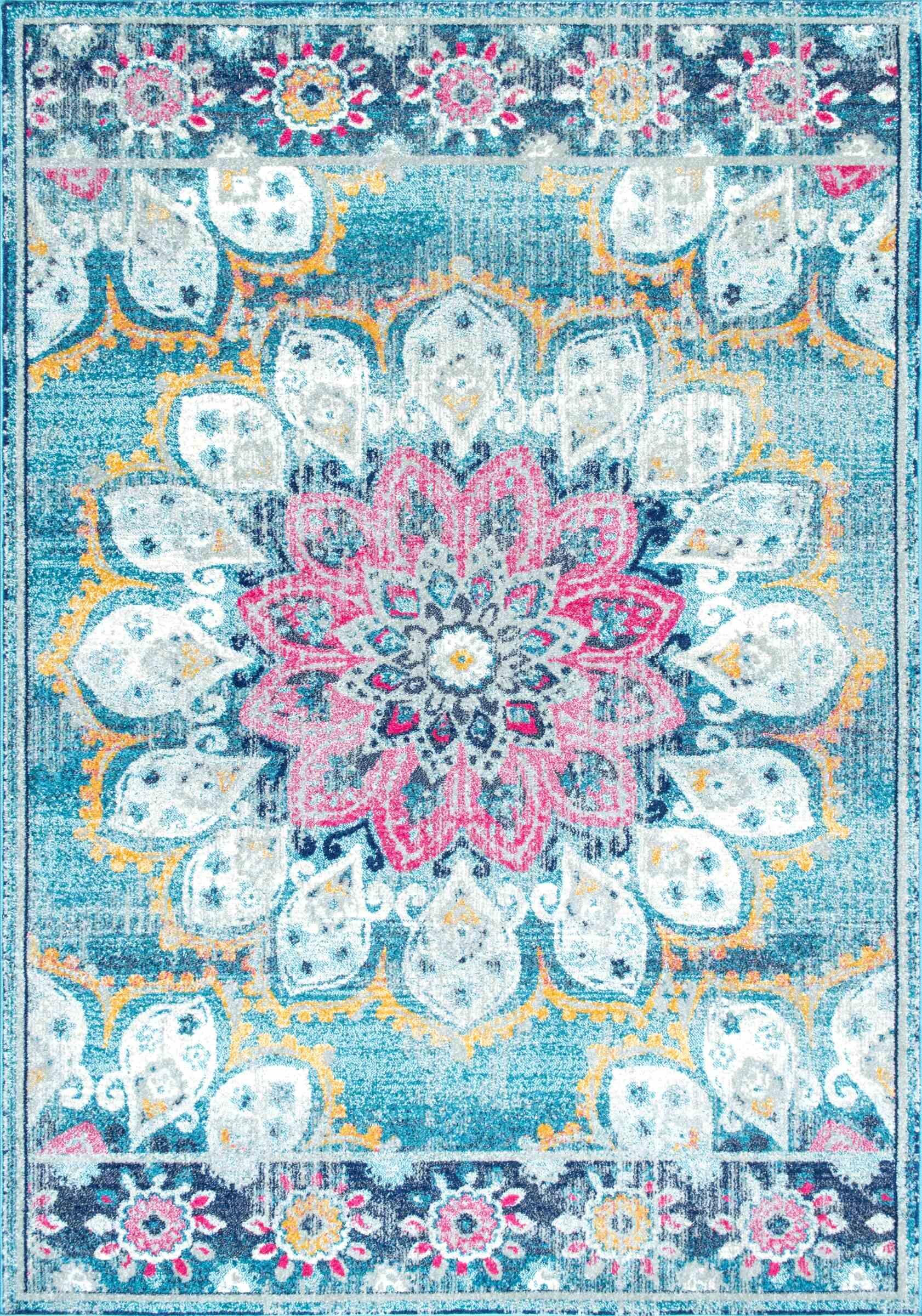 Vera Turquoise Area Rug Rug Size: Rectangle 9' x 12'