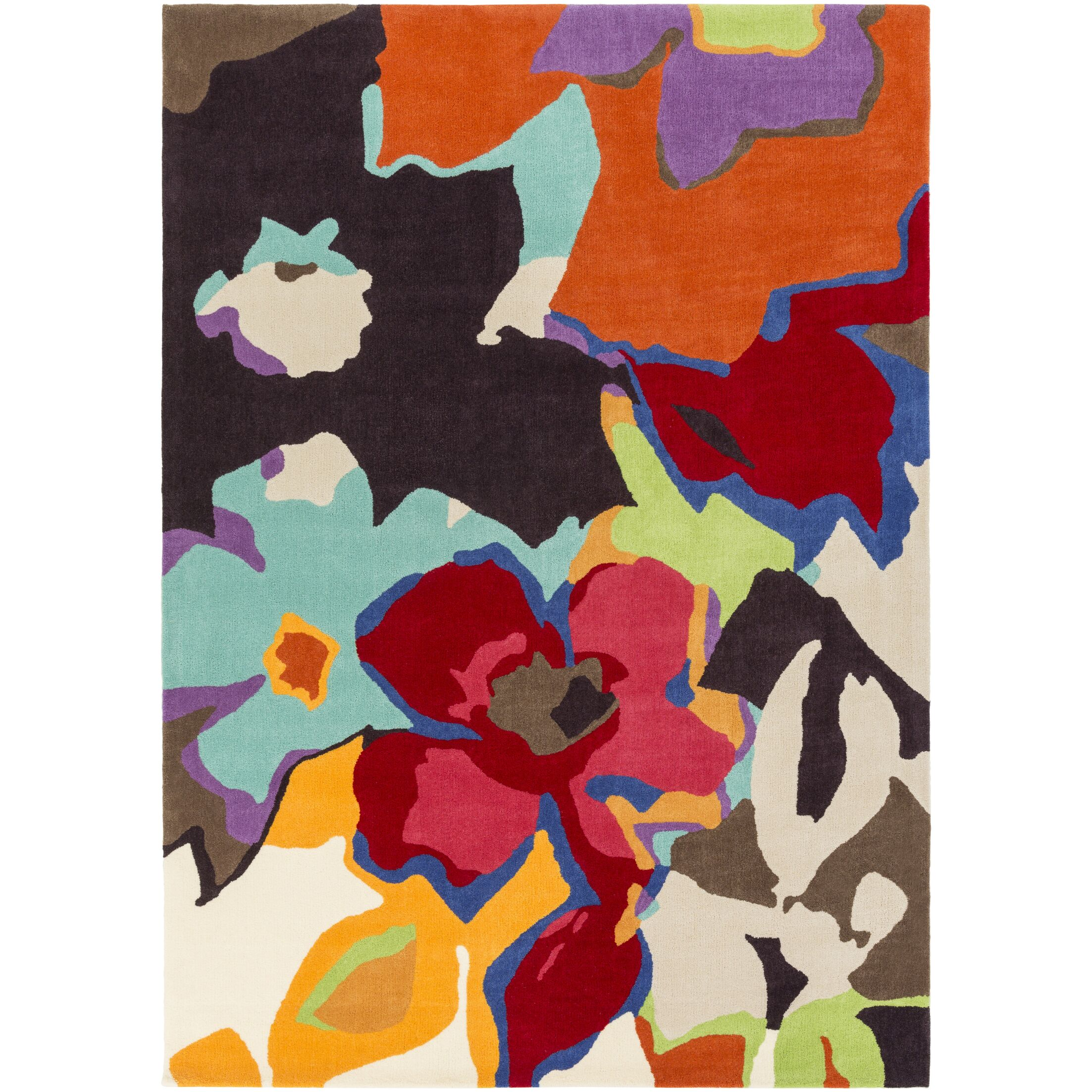 Aero Hand-Tufted Floral and Paisley Area Rug Rug Size: Rectangle 5' x 7'6