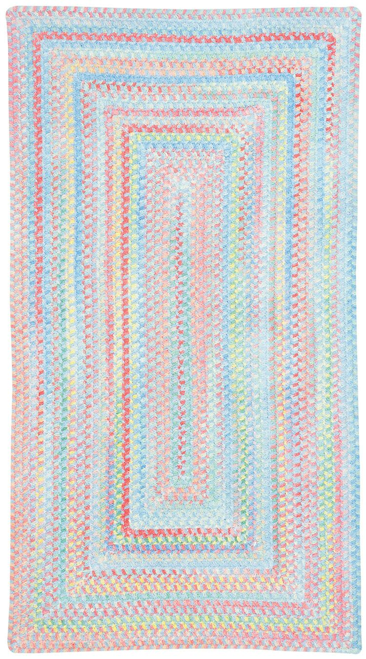 Melanie Kids Blue Area Rug Rug Size: Concentric Square 8'6