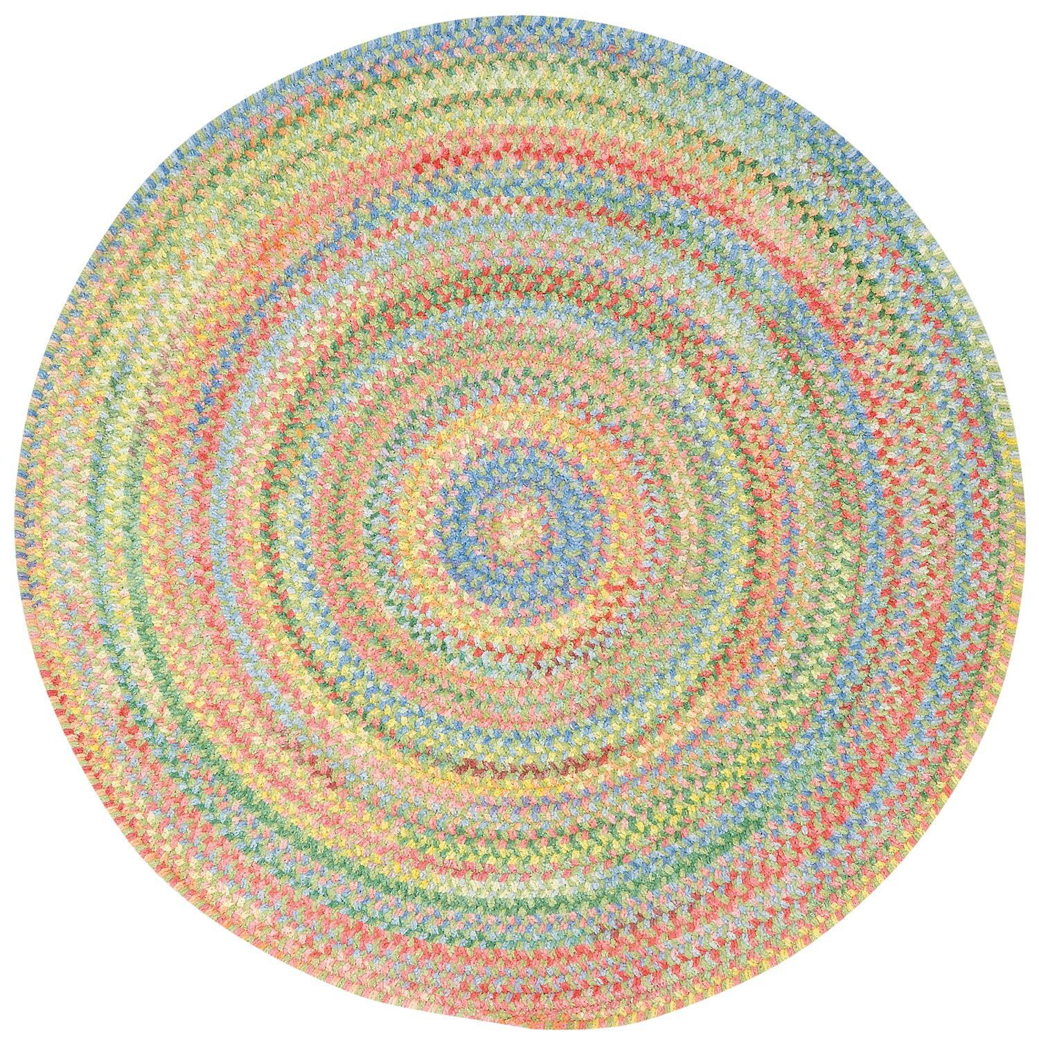 Melanie Variegated Area Rug Rug Size: Round 2'8