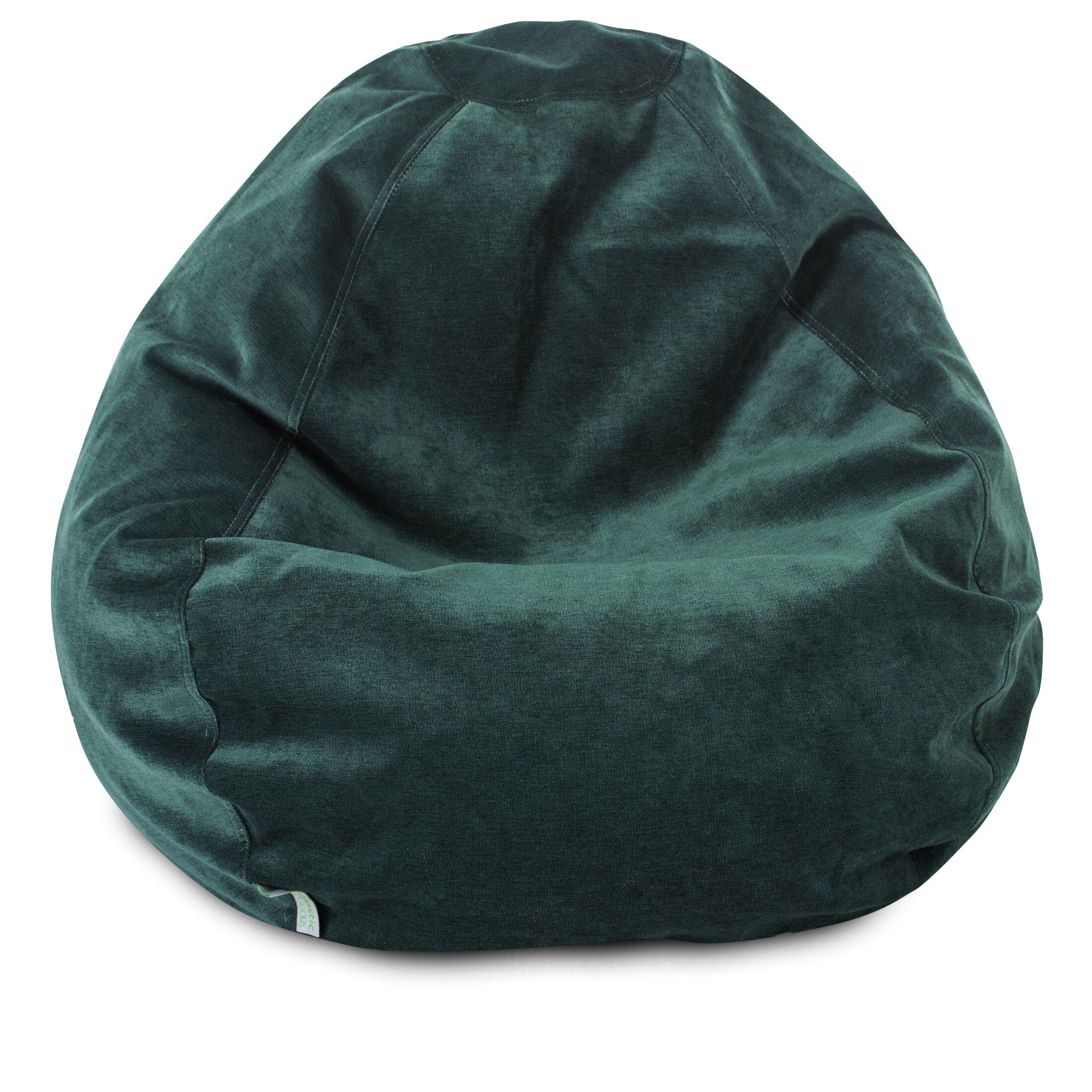 Micro Velvet Bean Bag Chair Color: Marine