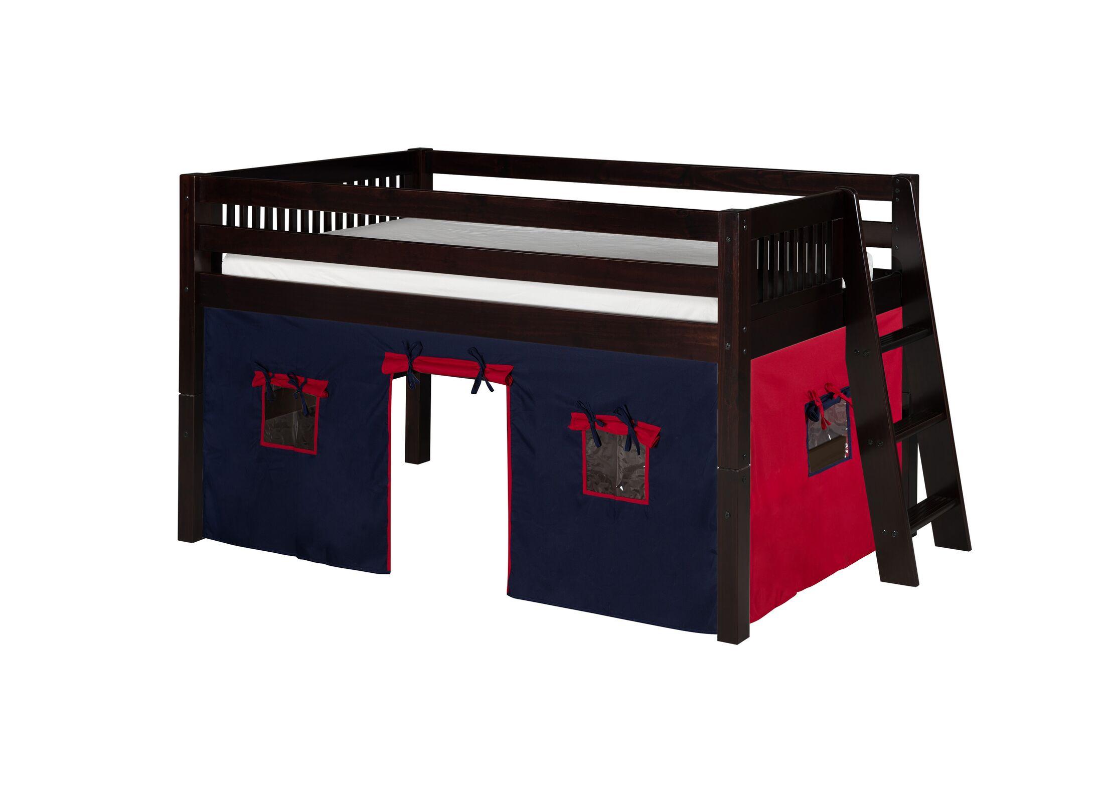 Oakwood Fabric Tent Kit For Low Loft Bed Color: Blue