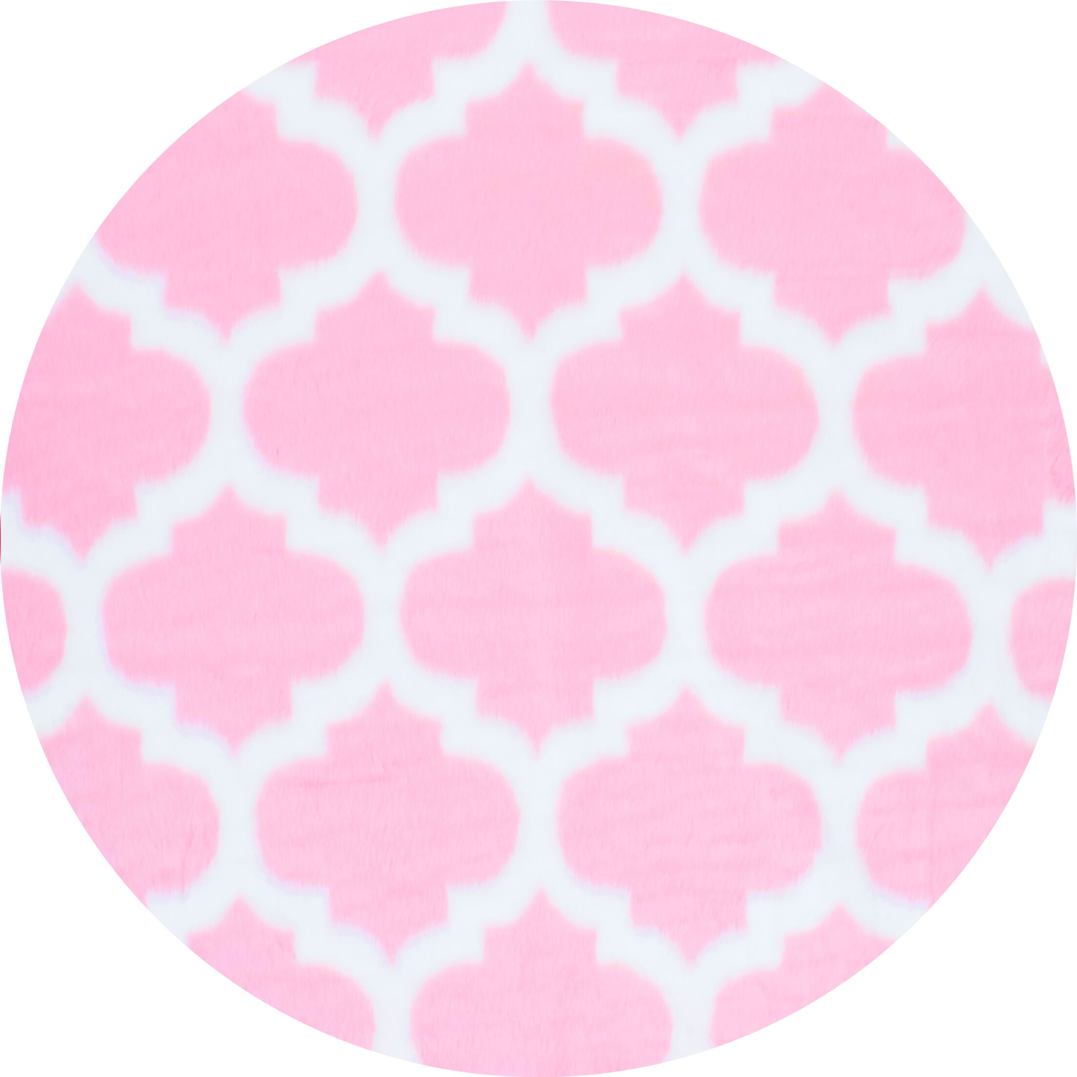 Rosemarie Faux Sheepskin Pink Area Rug Rug Size: Round 5'