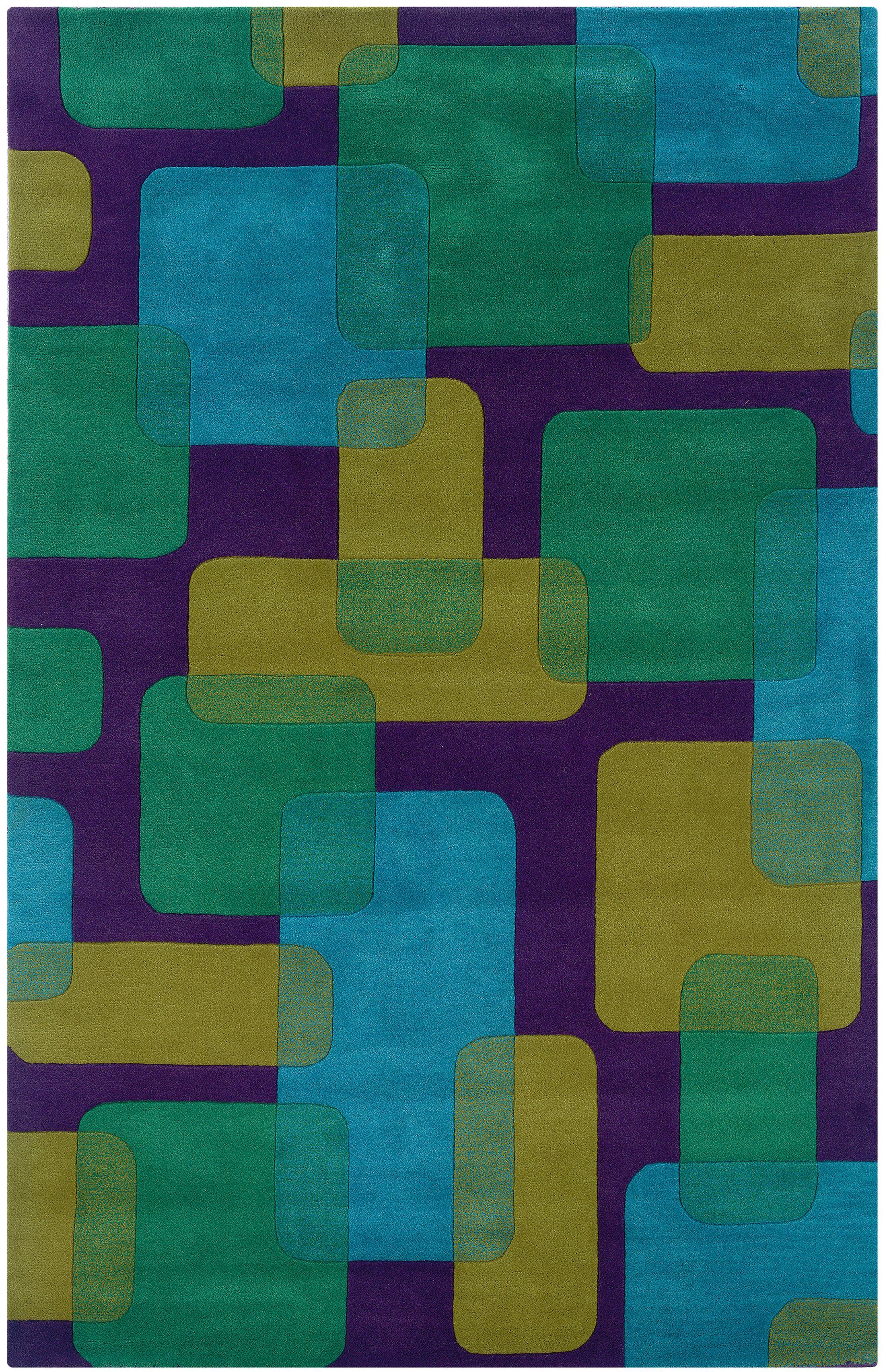 Leanne Purple Geometric Rug Rug Size: 8' x 10'