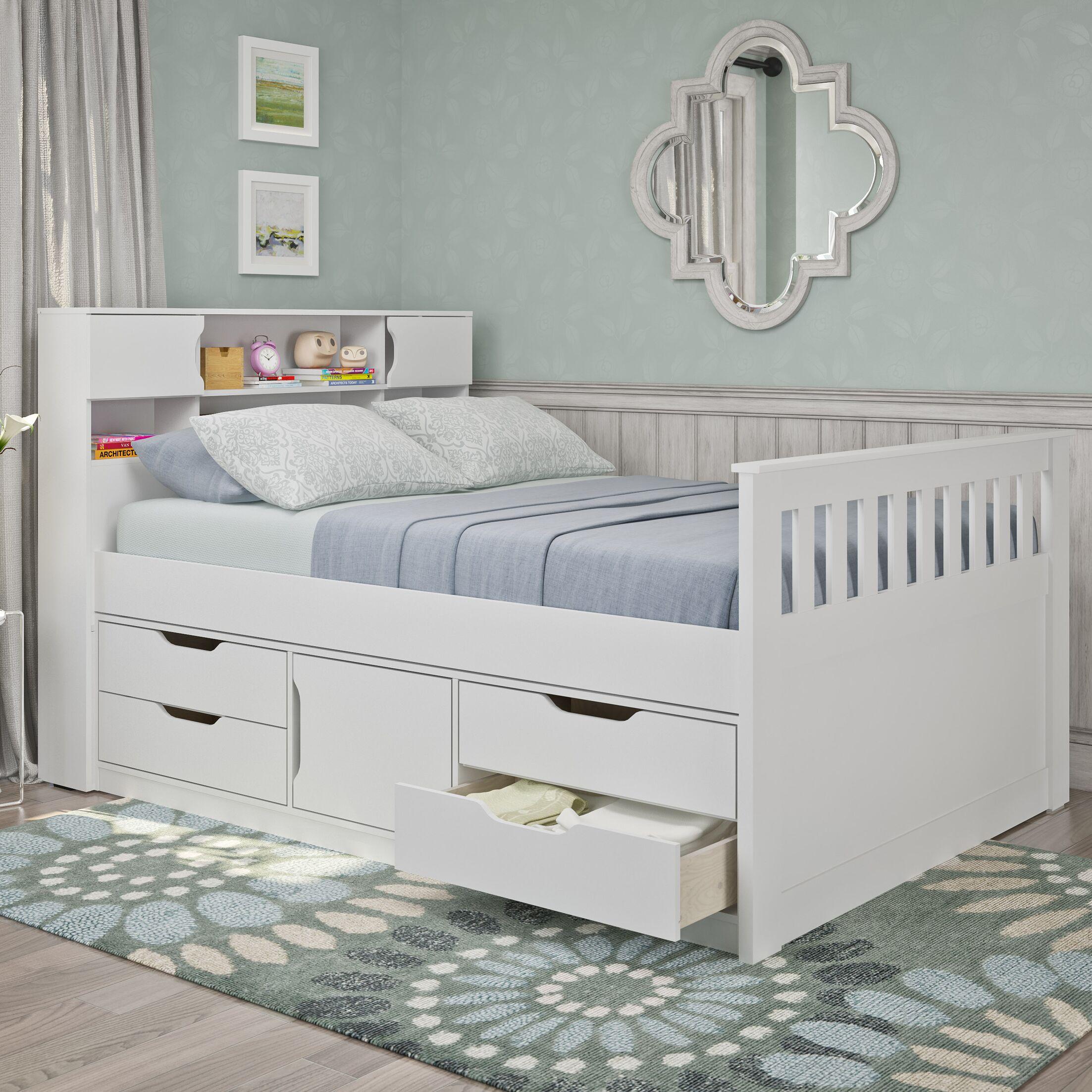 Crisler Full/Double Storage Platform Bed Color: Snow White