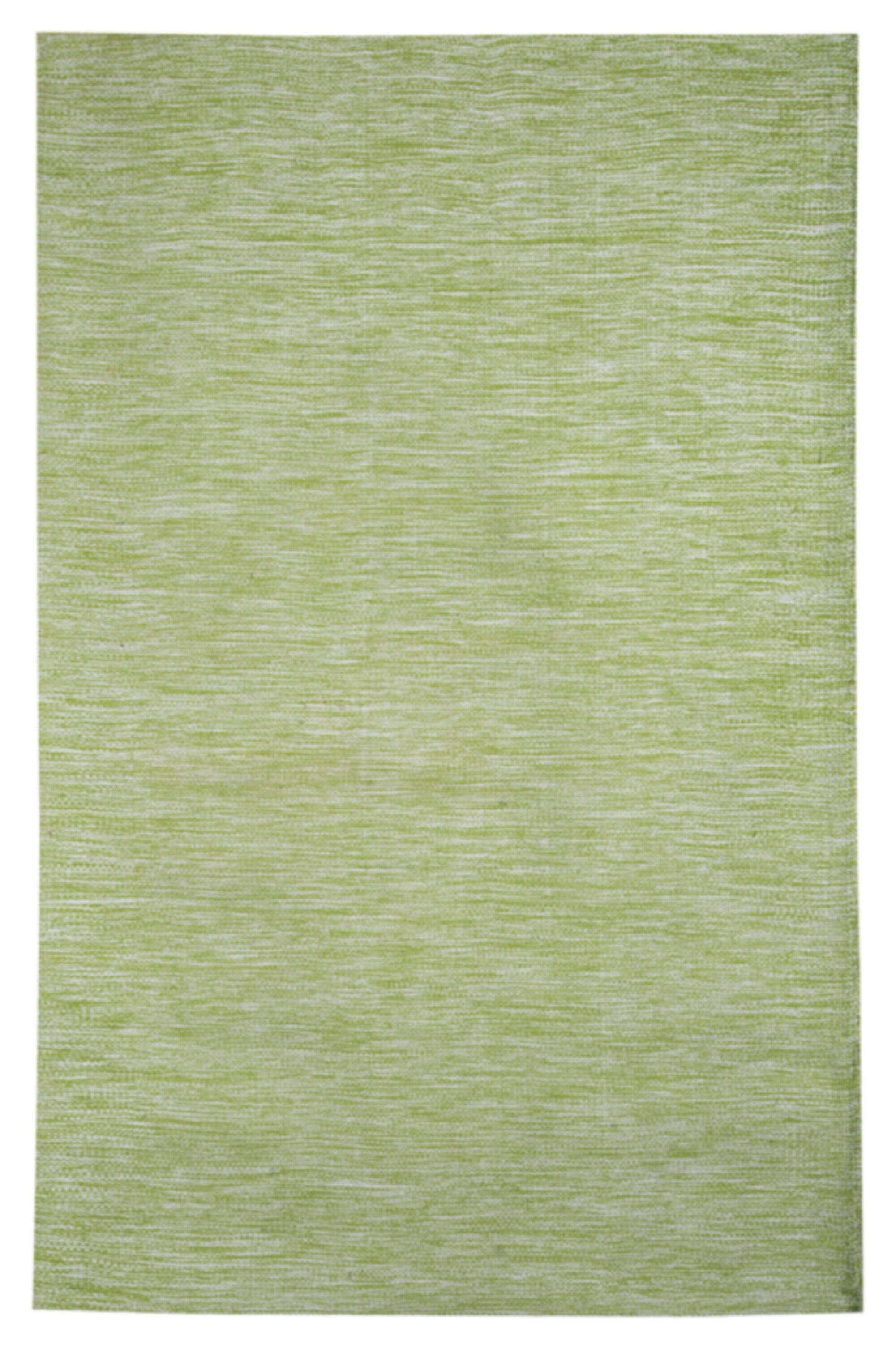 Della Handwoven Cotton Green Area Rug