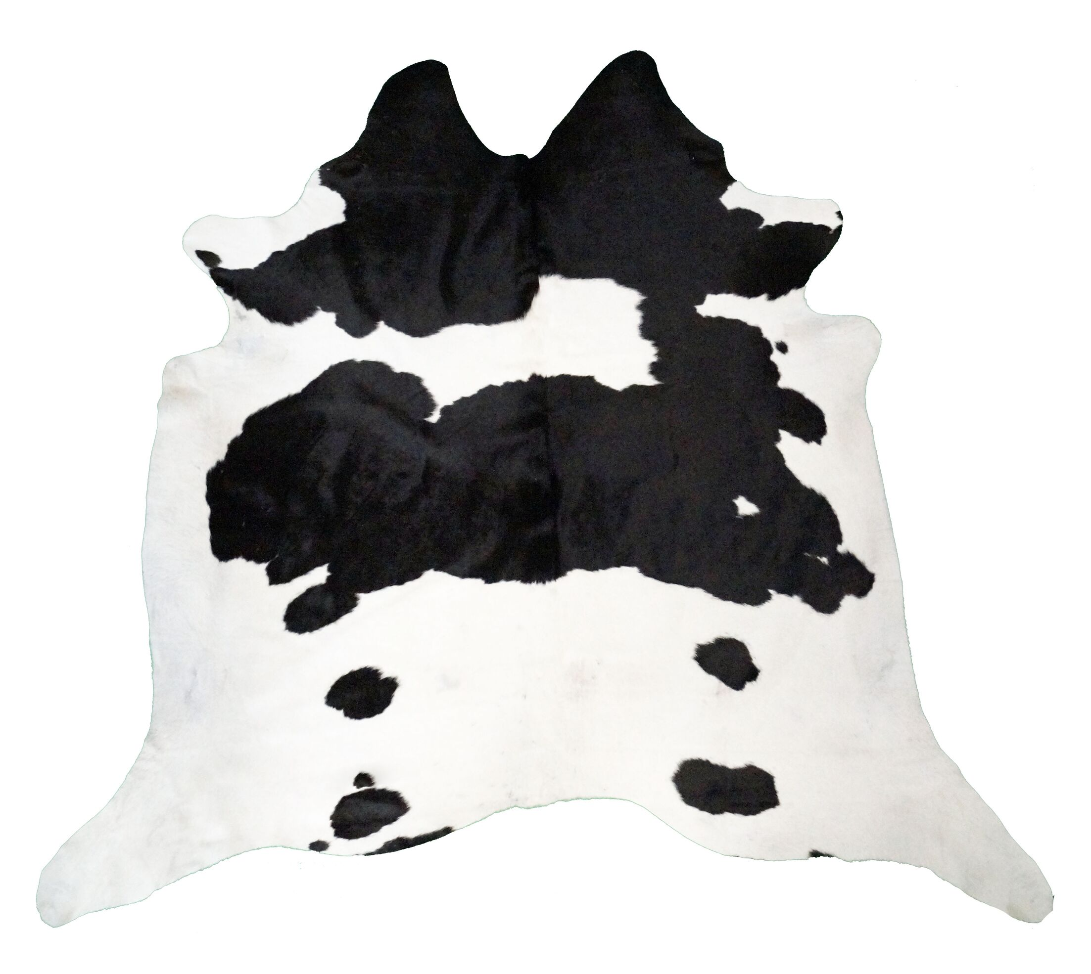 Cagle Cowhides Black and White Area Rug