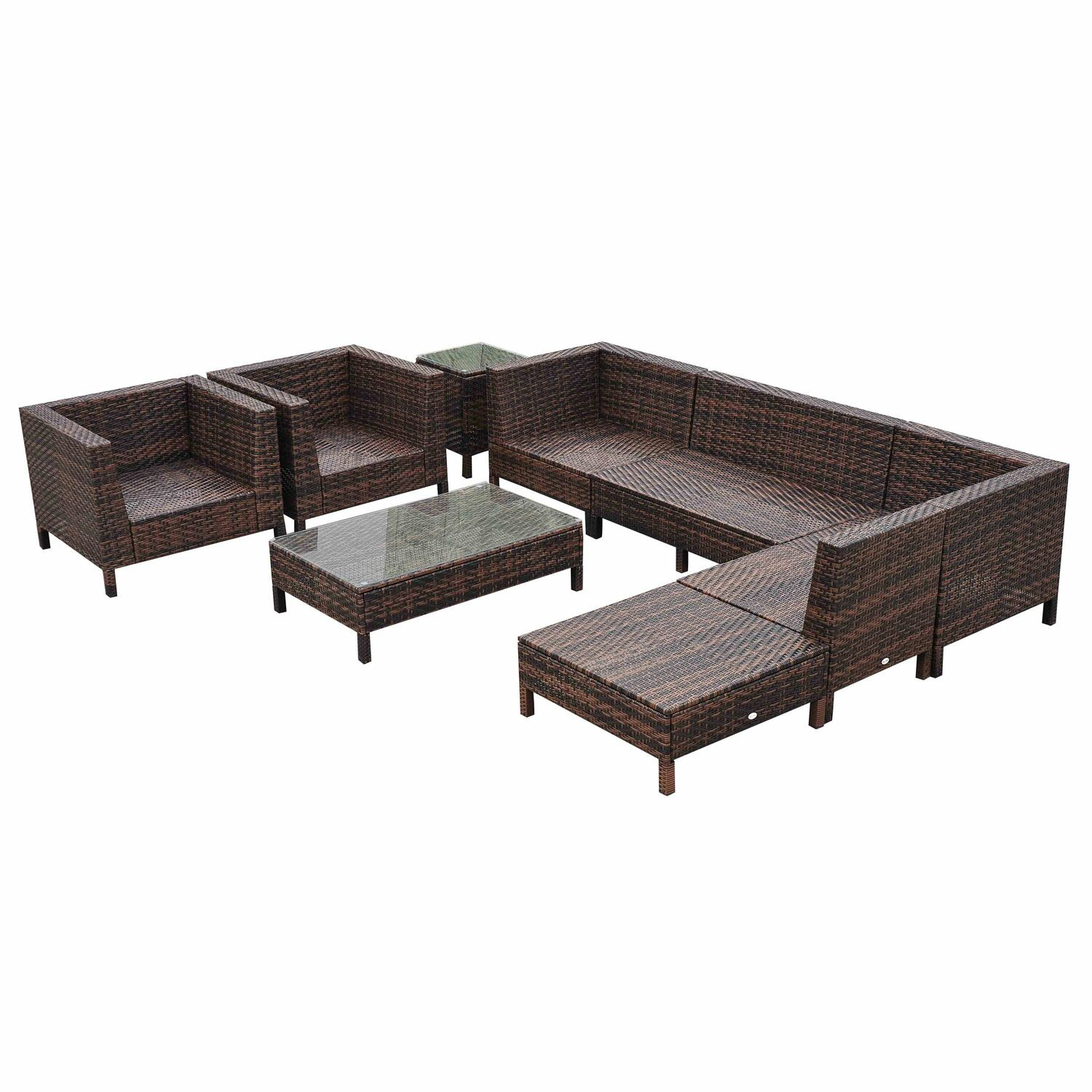 9 Piece Sectional Set with Cushions