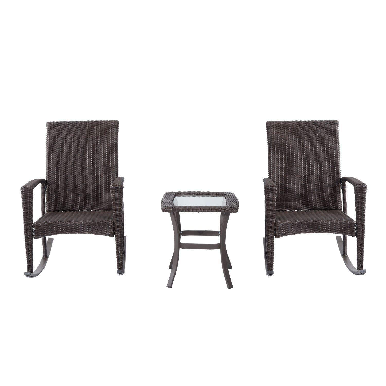 Kilgo 3 Piece Conversation Set with Cushions Frame Color: Brown