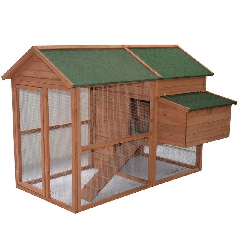 Hattaway Wooden Backyard Hen House Chicken Coop