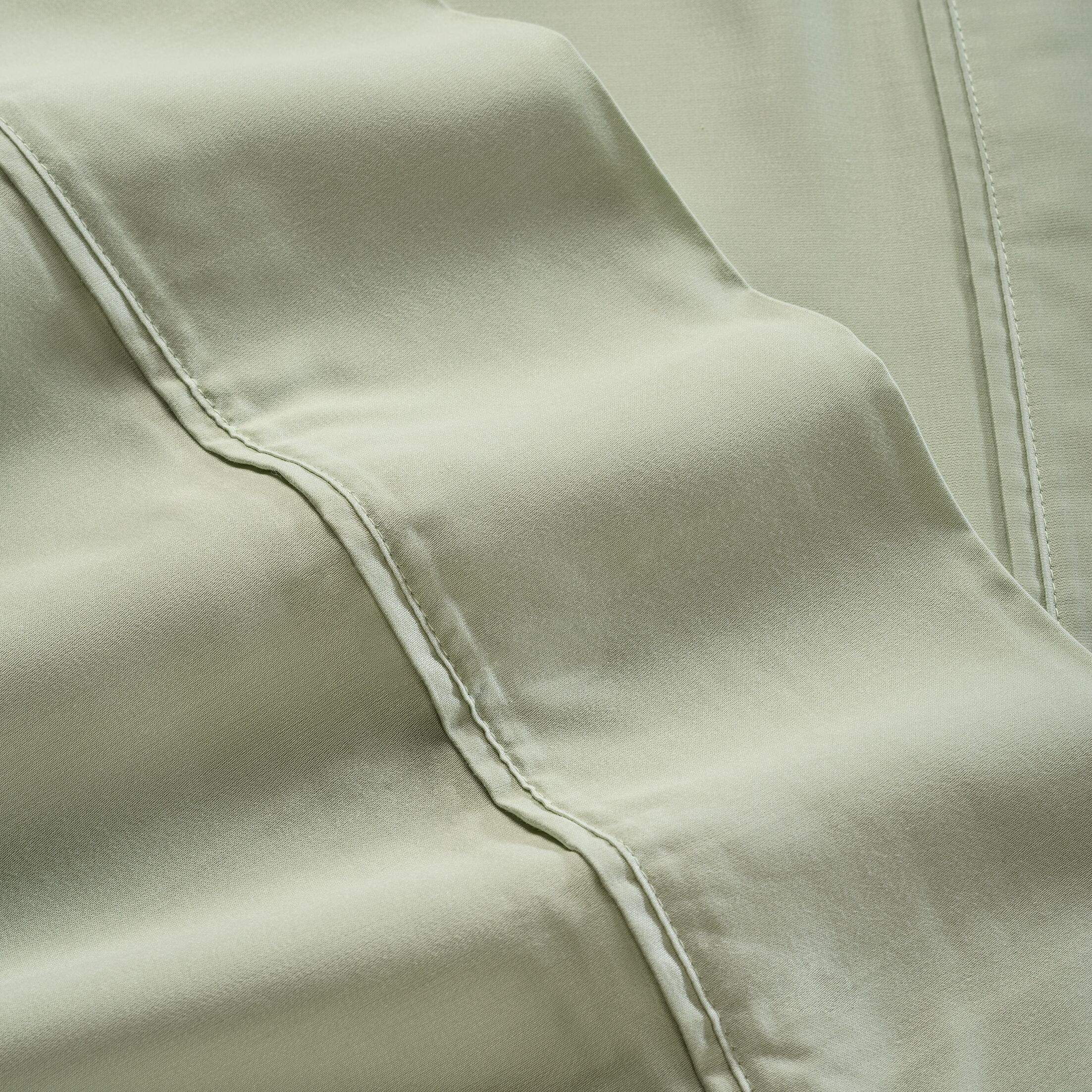 600 Thread Count 100% Tencel Sheet Set Color: Sage, Size: Twin