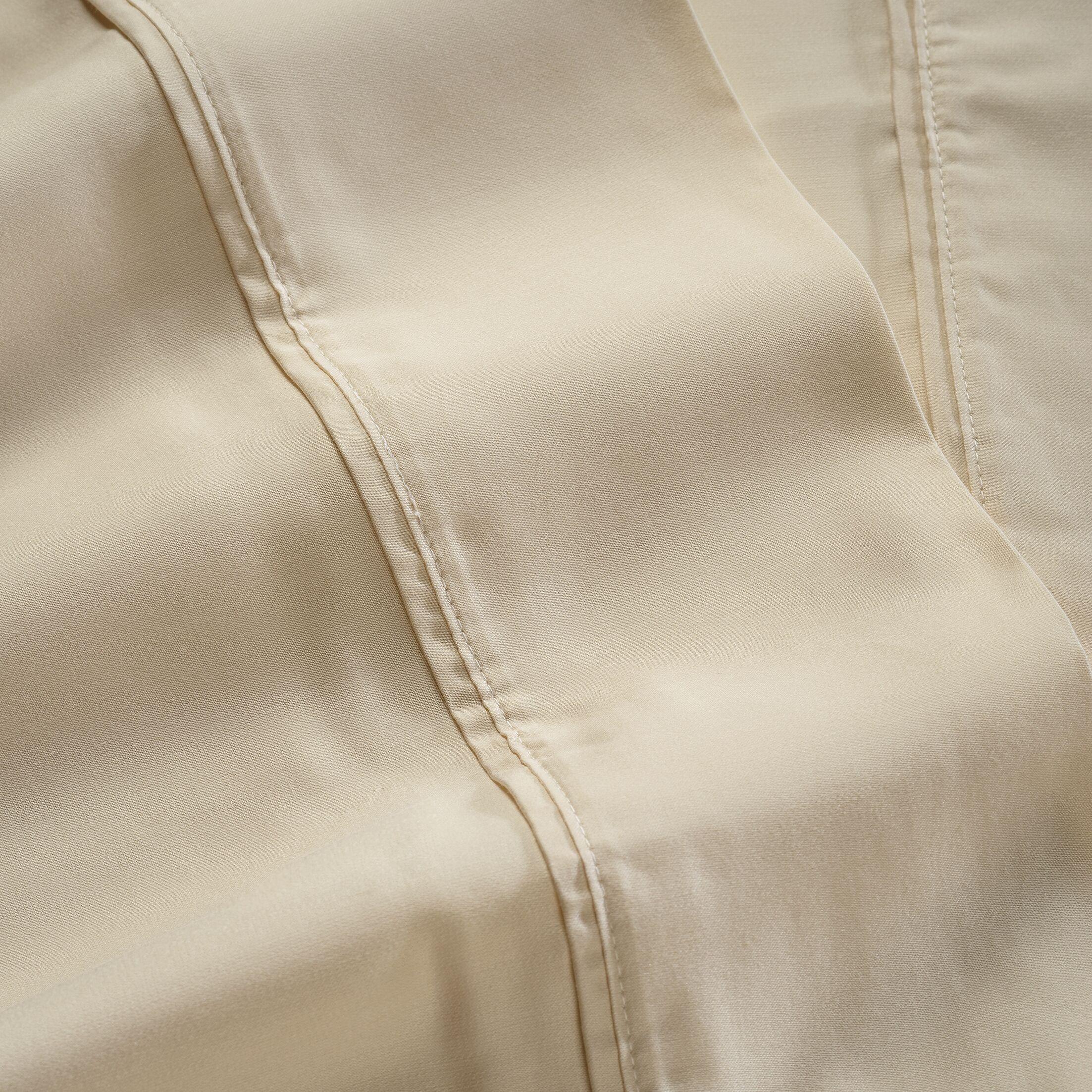 600 Thread Count 100% Tencel Sheet Set Color: Cream, Size: Queen