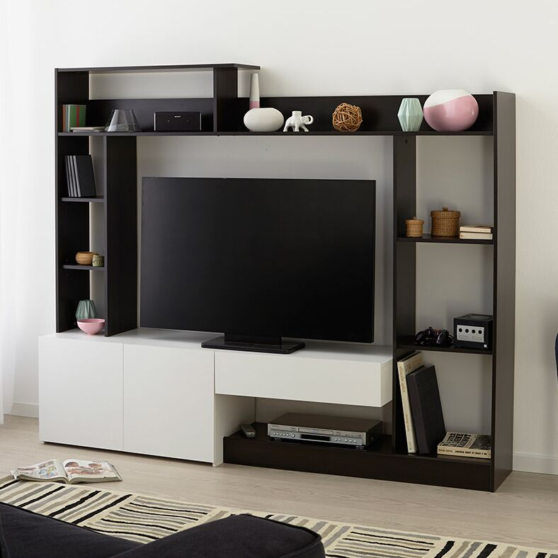 Giant TV Entertainment Center Color: Coffee